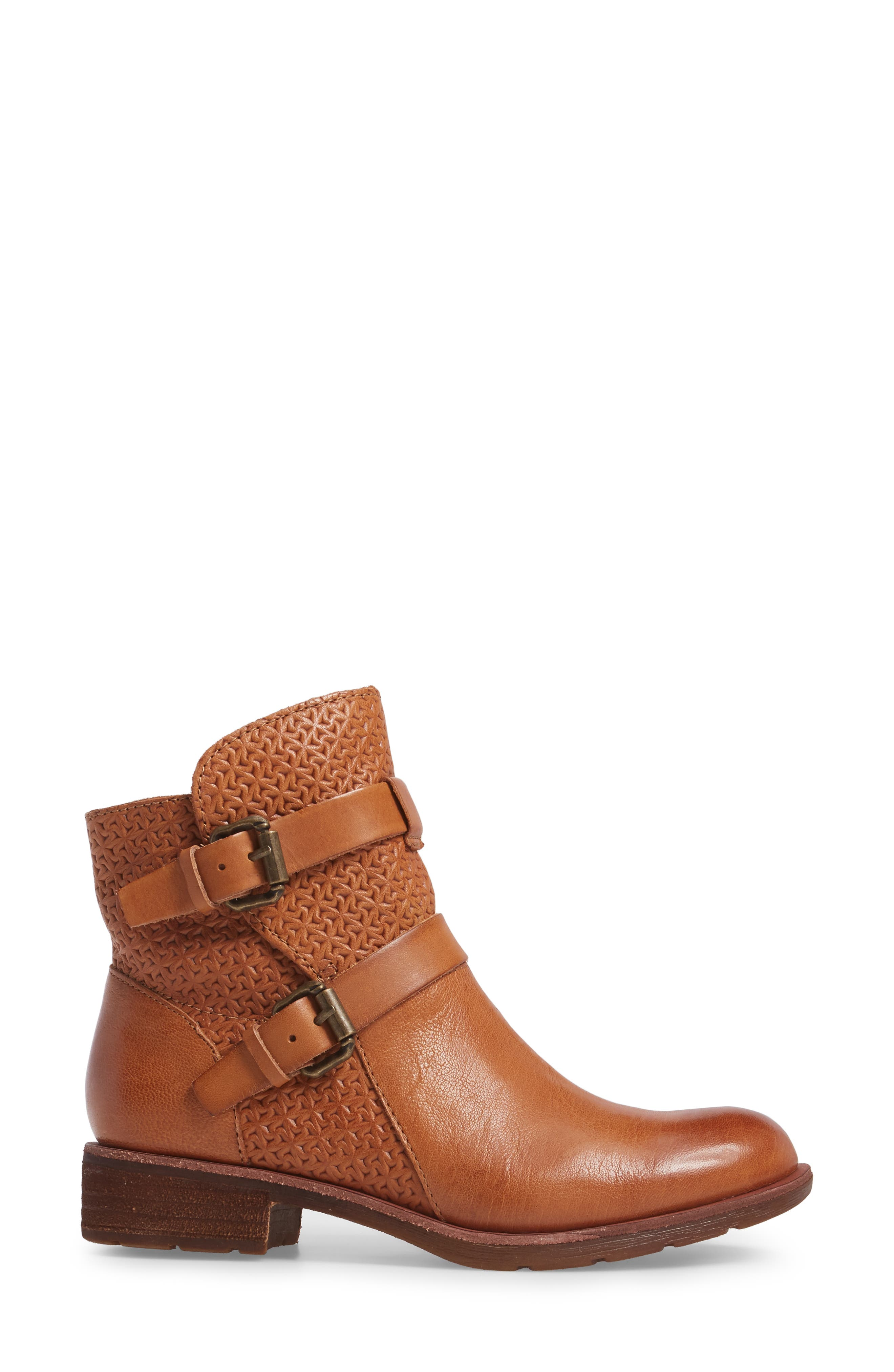 Baywood Buckle Boot,                             Alternate thumbnail 3, color,                             LUGGAGE LEATHER