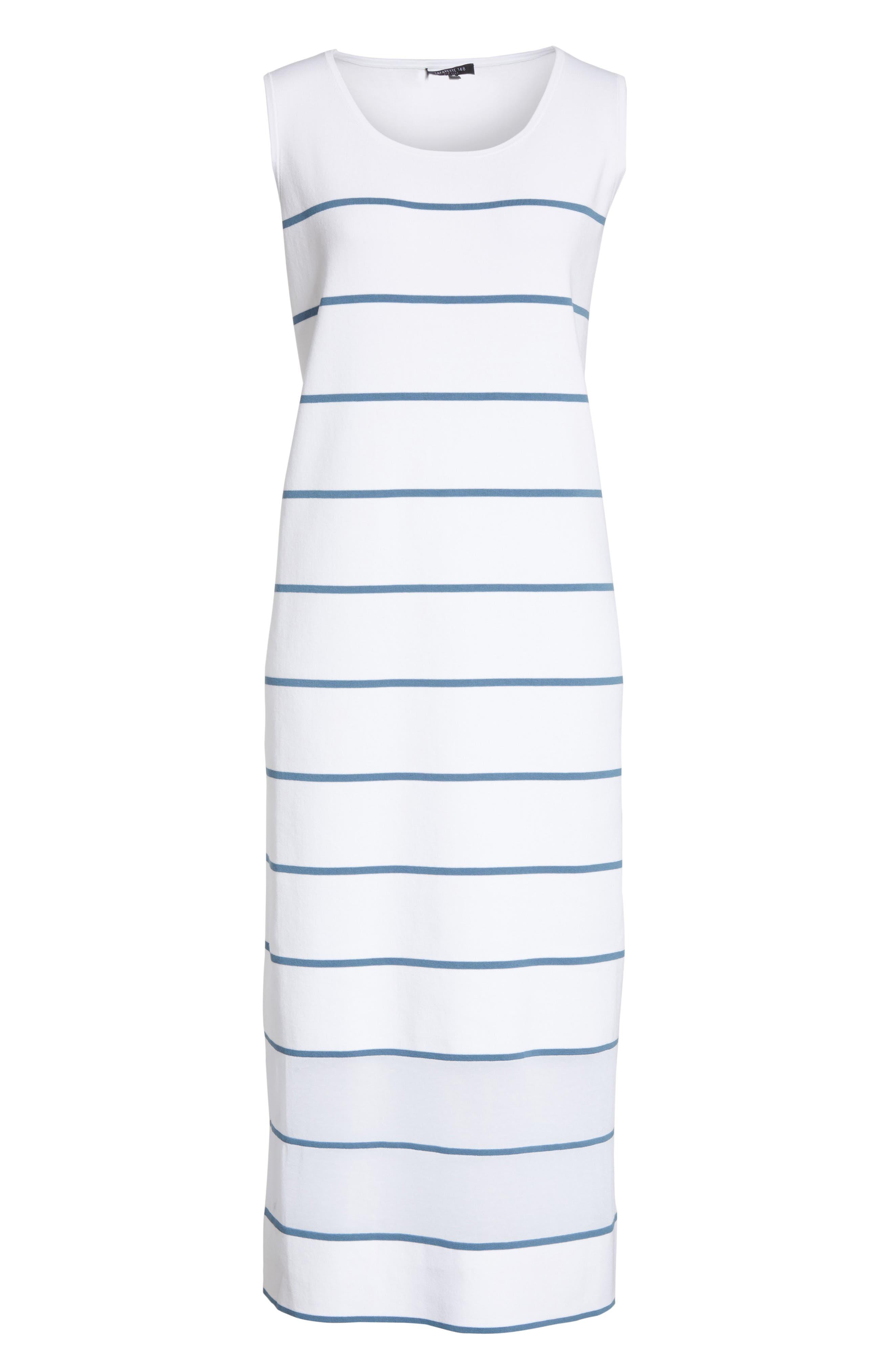 Stripe Sheer Hem Tank Dress,                             Alternate thumbnail 6, color,