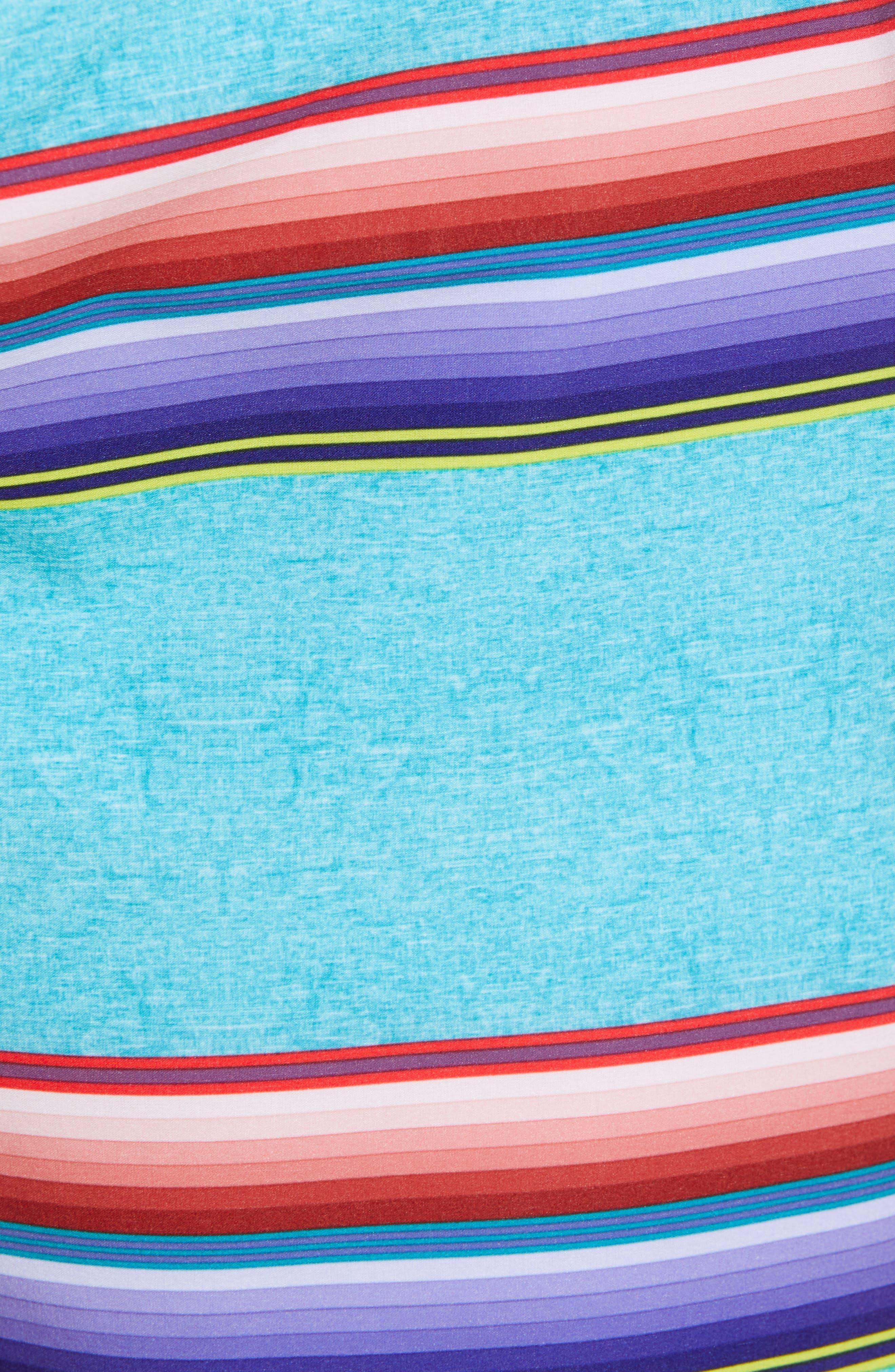 Phantom Serape Board Shorts,                             Alternate thumbnail 5, color,                             AURORA GREEN