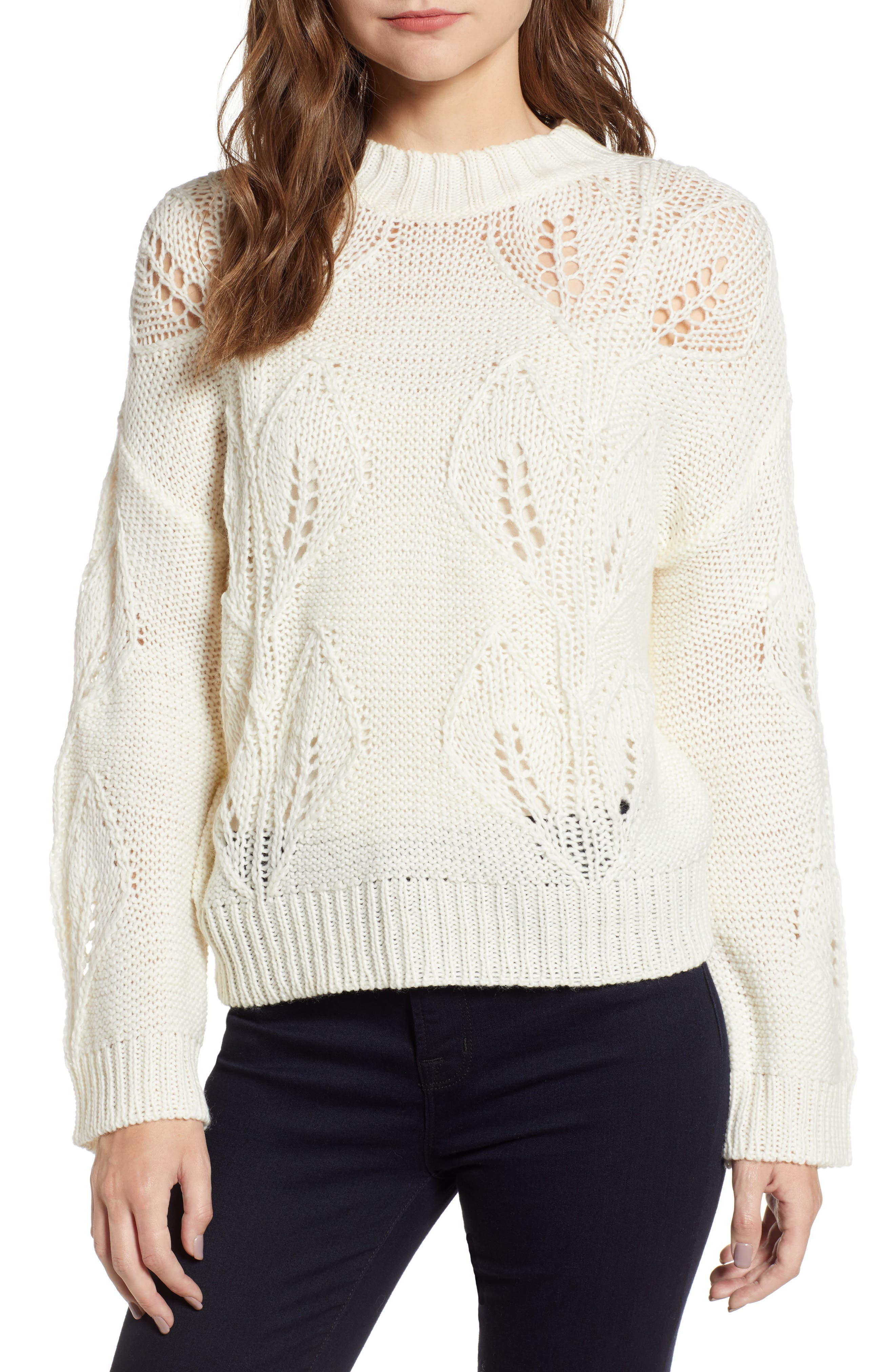 Bishop + Young Botanical Sweater,                         Main,                         color, CREAM