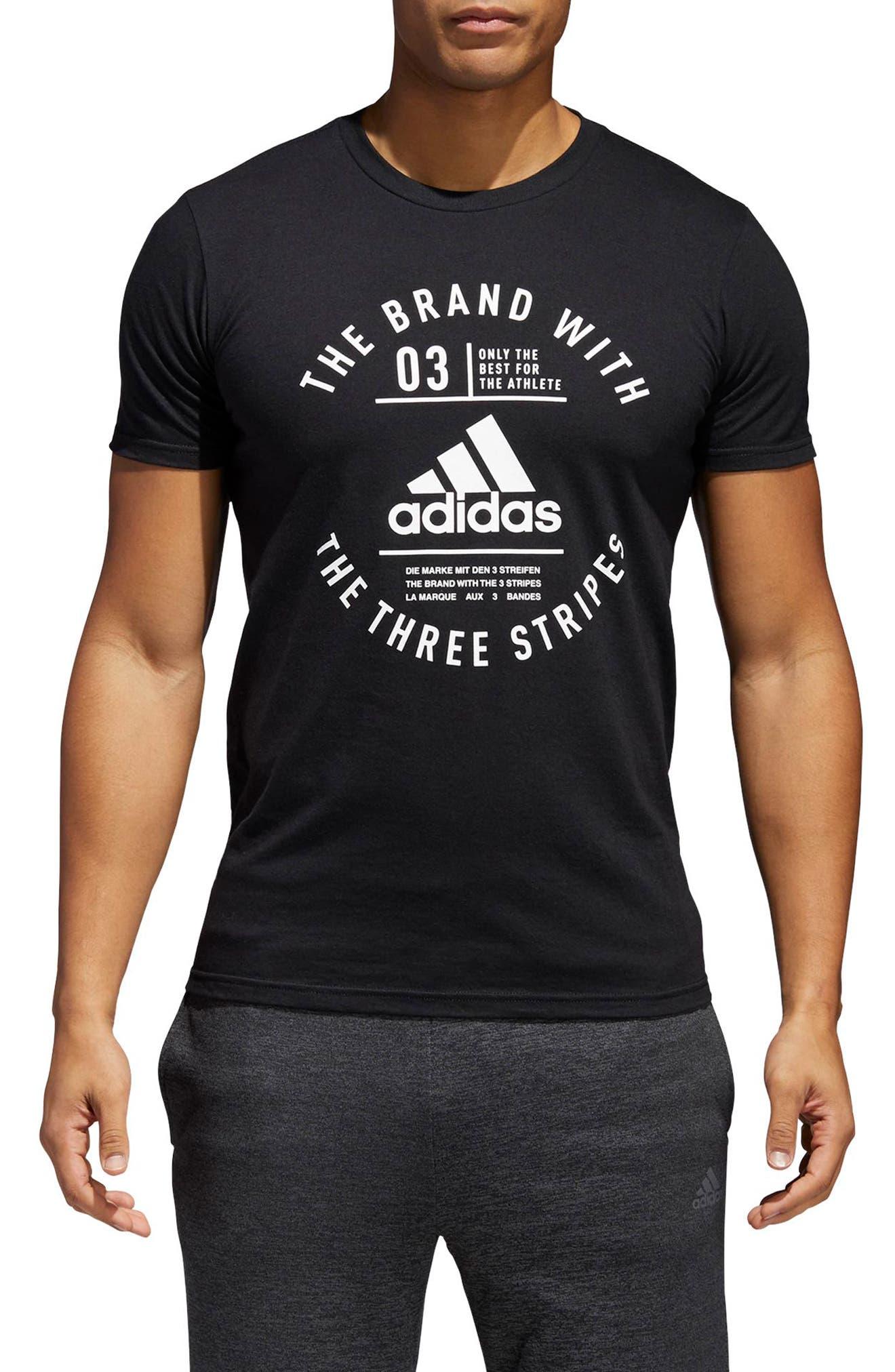 BOS Label T-Shirt,                             Main thumbnail 1, color,                             001