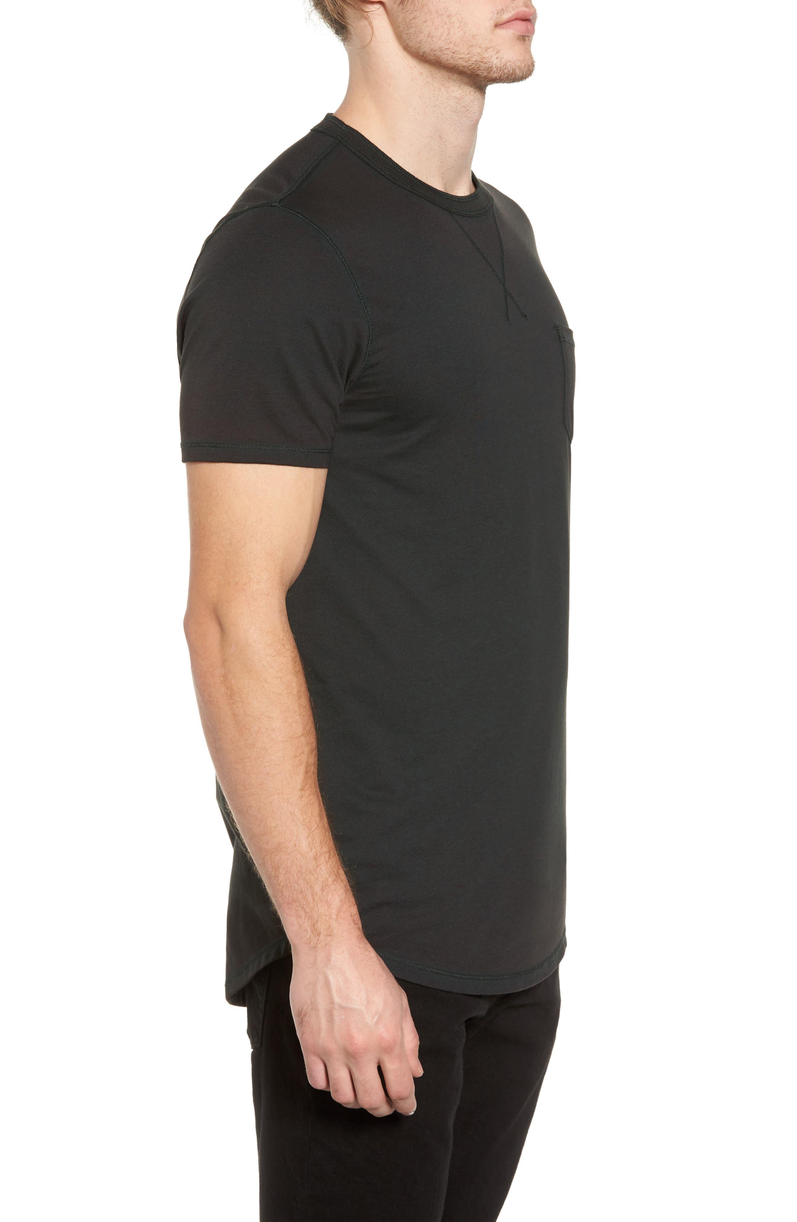 Crewneck Pocket T-Shirt,                             Alternate thumbnail 3, color,