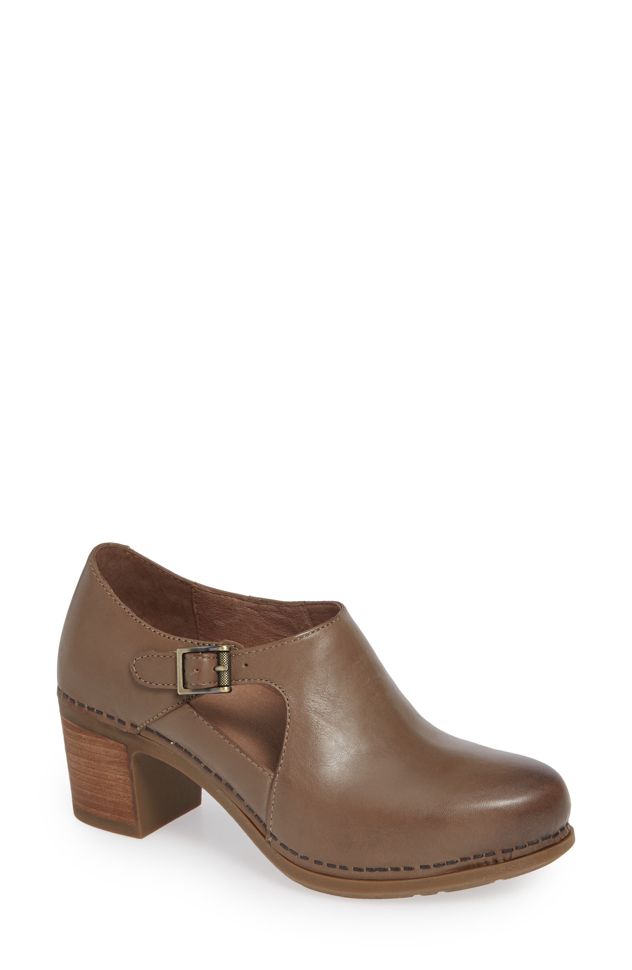 Hollie Bootie in Taupe Burnished Leather