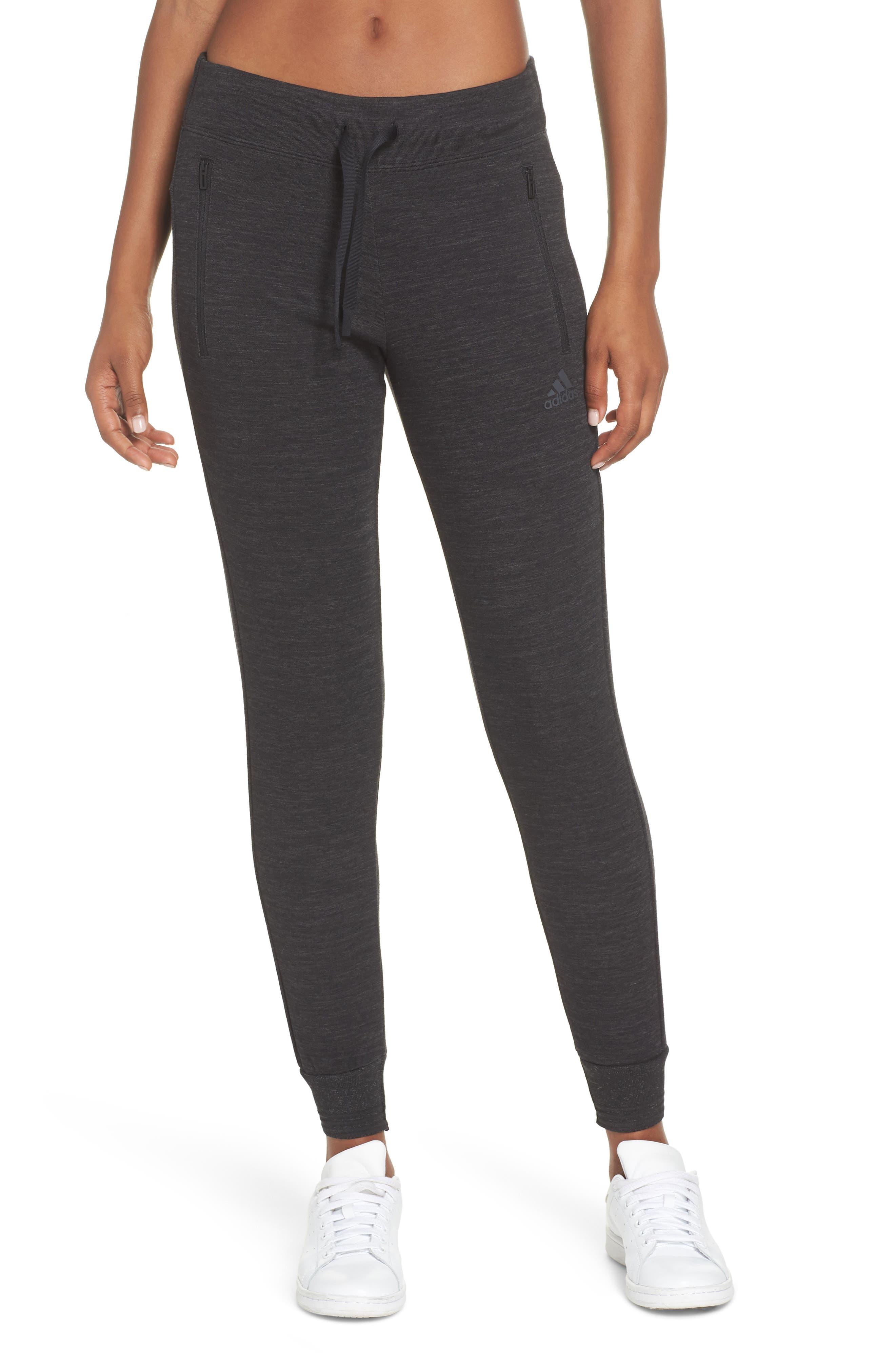 ID Slim Sweatpants, Main, color, BLACK/ GREY FIVE