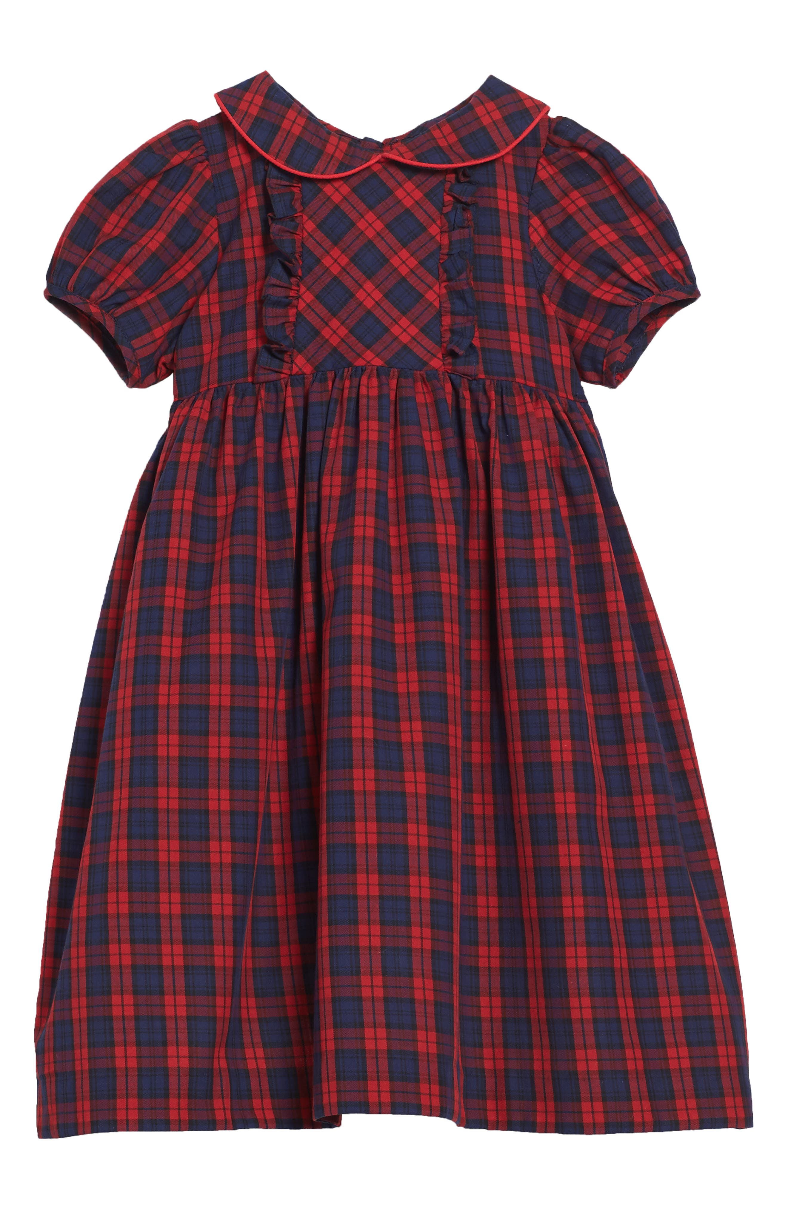 Plaid Dress,                         Main,                         color, 600