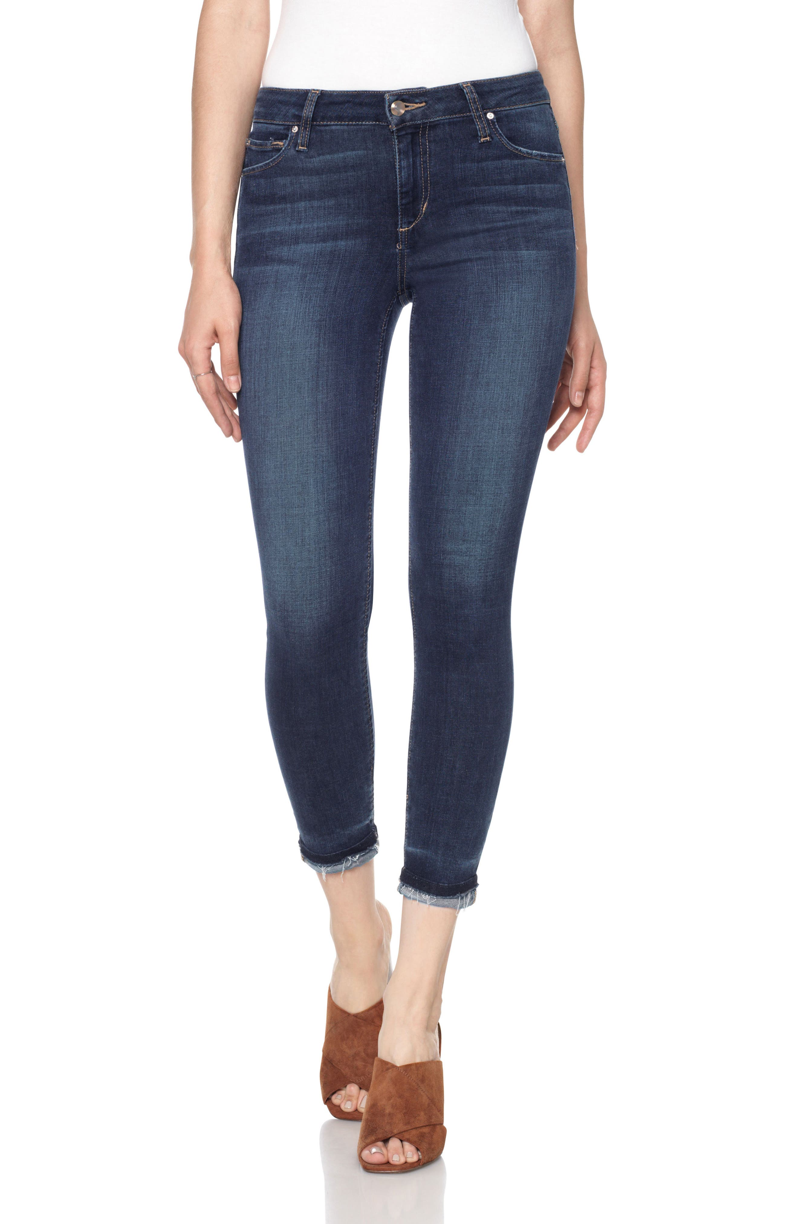 Markie High Rise Crop Skinny Jeans,                         Main,                         color, 400