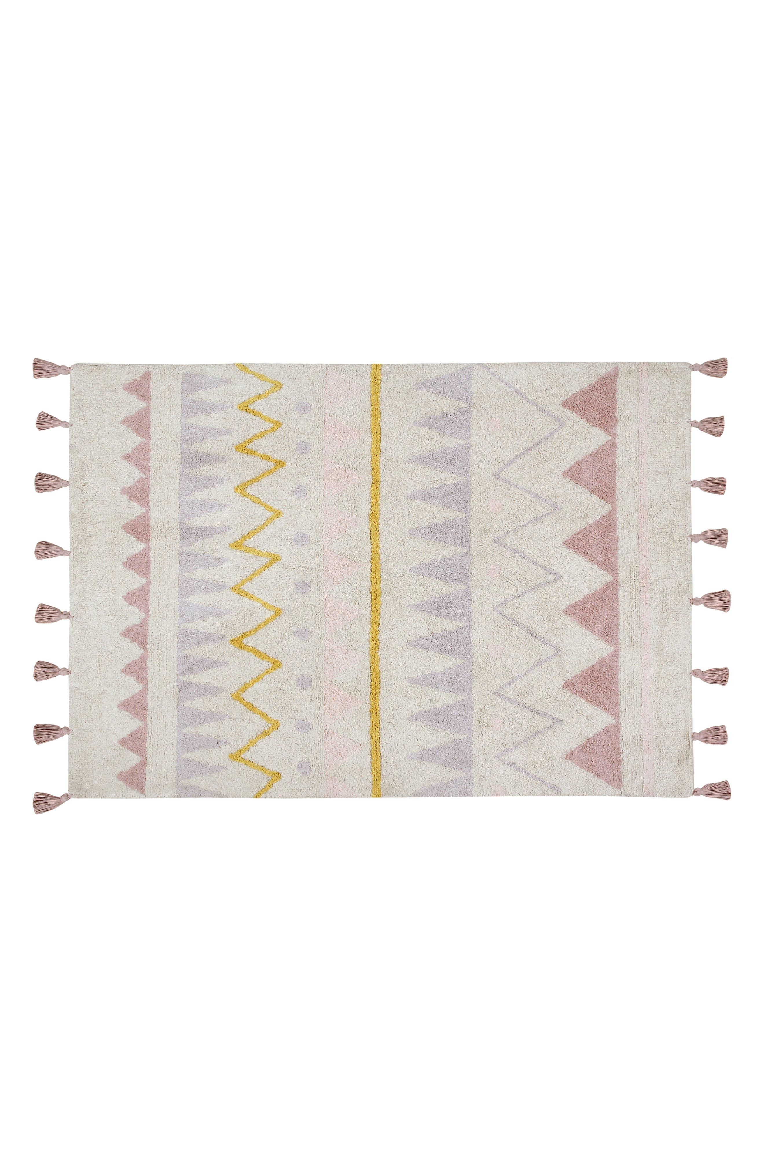 Geometric Tassel Rug,                         Main,                         color, AZTECA NATURAL-VINTAGE NUDE