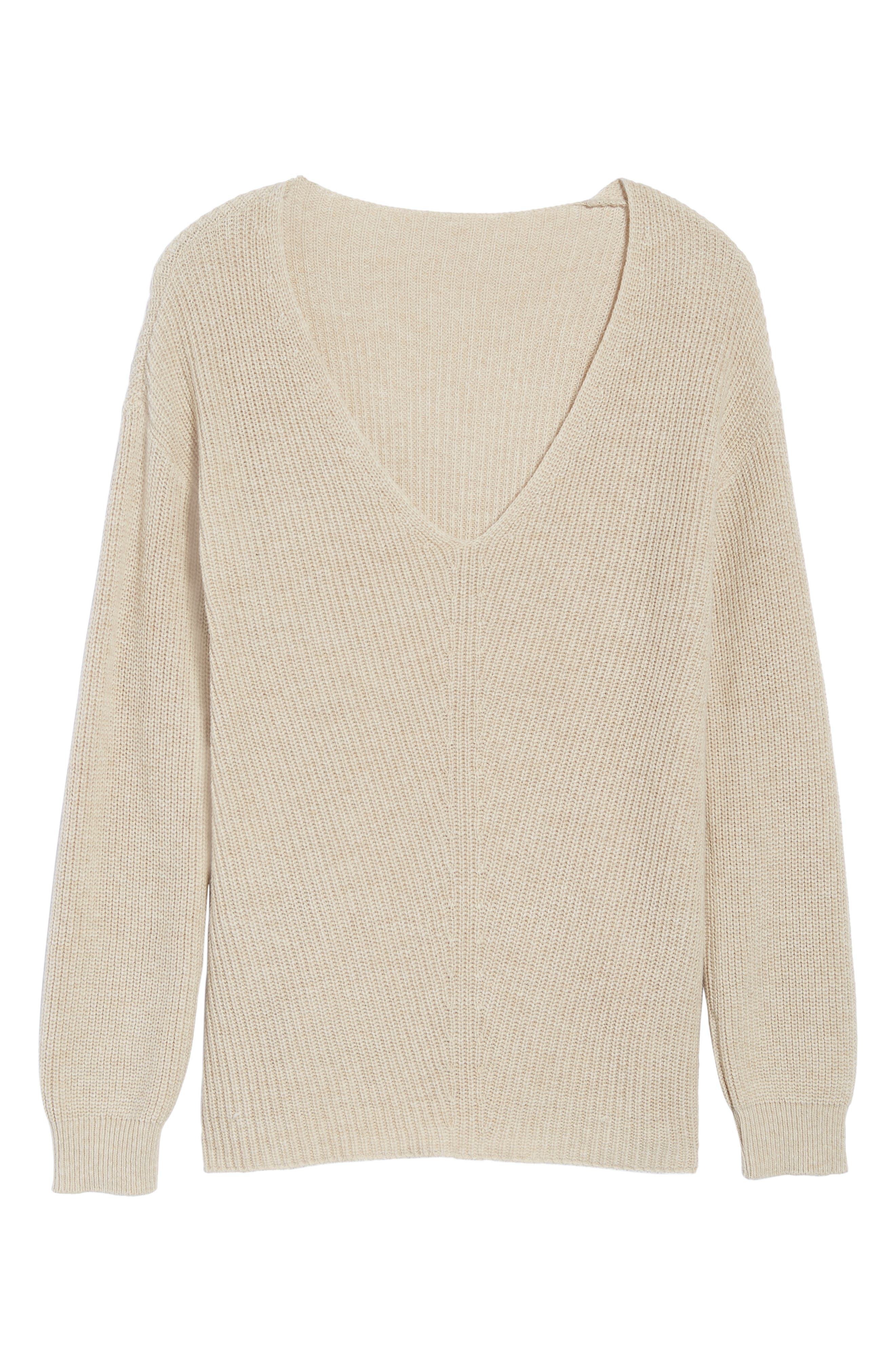 V-Neck Sweater,                             Alternate thumbnail 38, color,