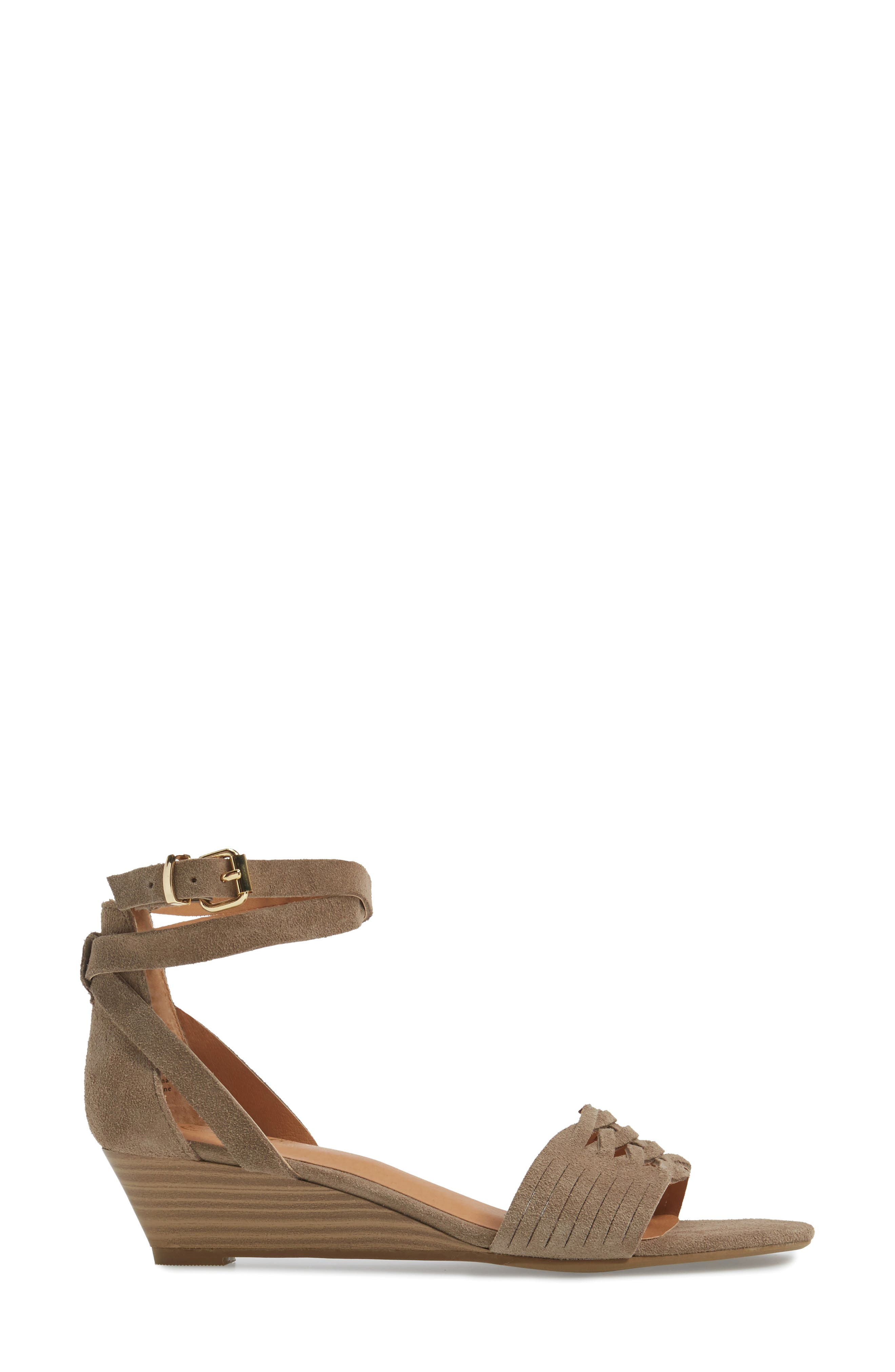 Sincere Wraparound Wedge Sandal,                             Alternate thumbnail 6, color,