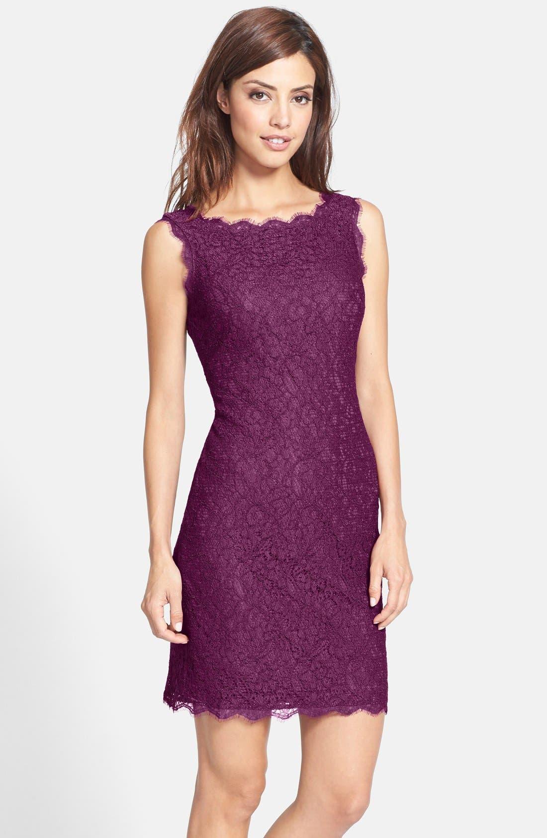 Boatneck Lace Sheath Dress,                             Main thumbnail 31, color,