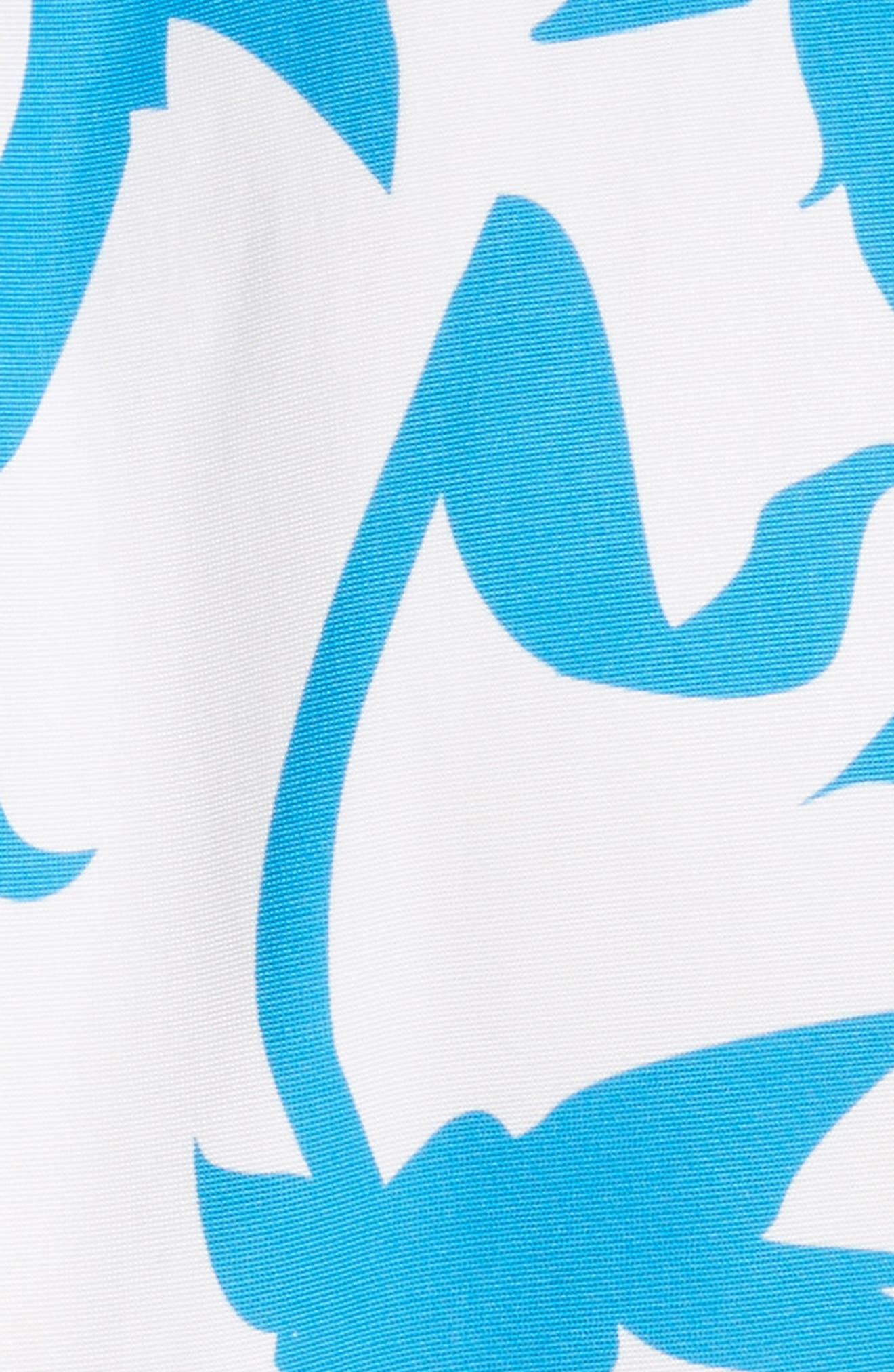 Pleated A-Line Midi Dress,                             Alternate thumbnail 5, color,                             100