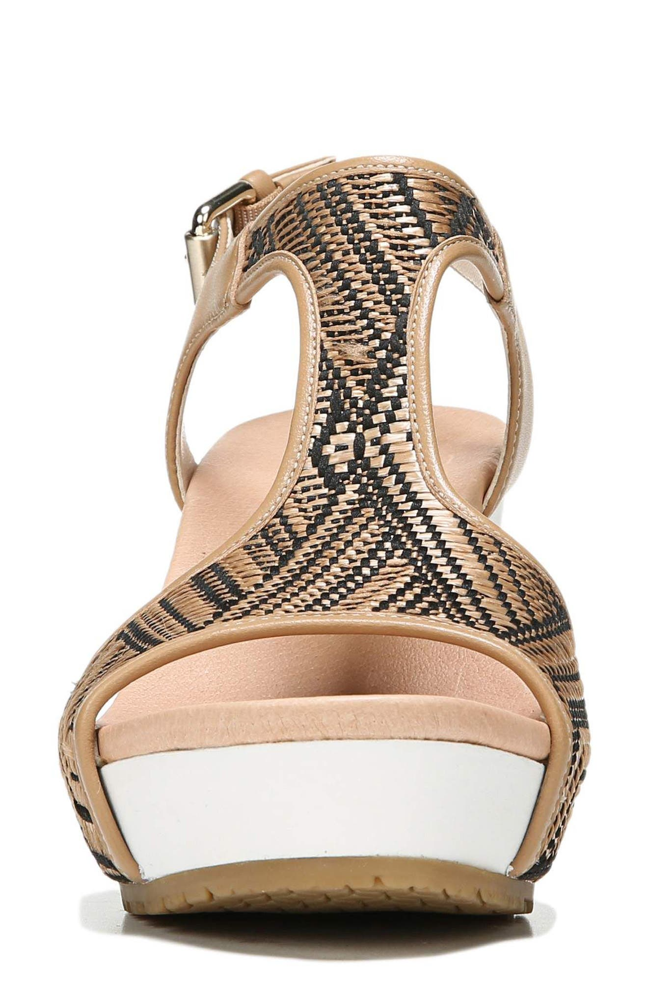 'Original Collection Wiley' Wedge Sandal,                             Alternate thumbnail 4, color,                             NUDE