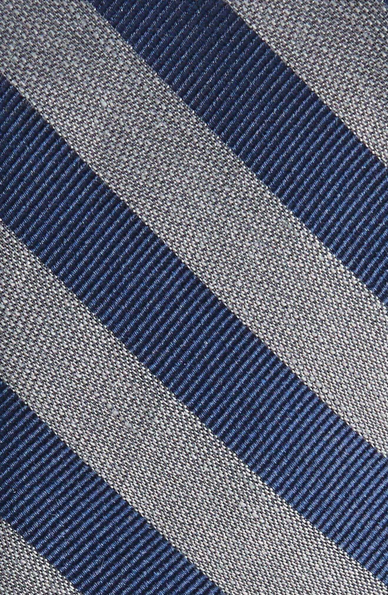 Lumber Stripe Silk & Linen Tie,                             Alternate thumbnail 2, color,                             030