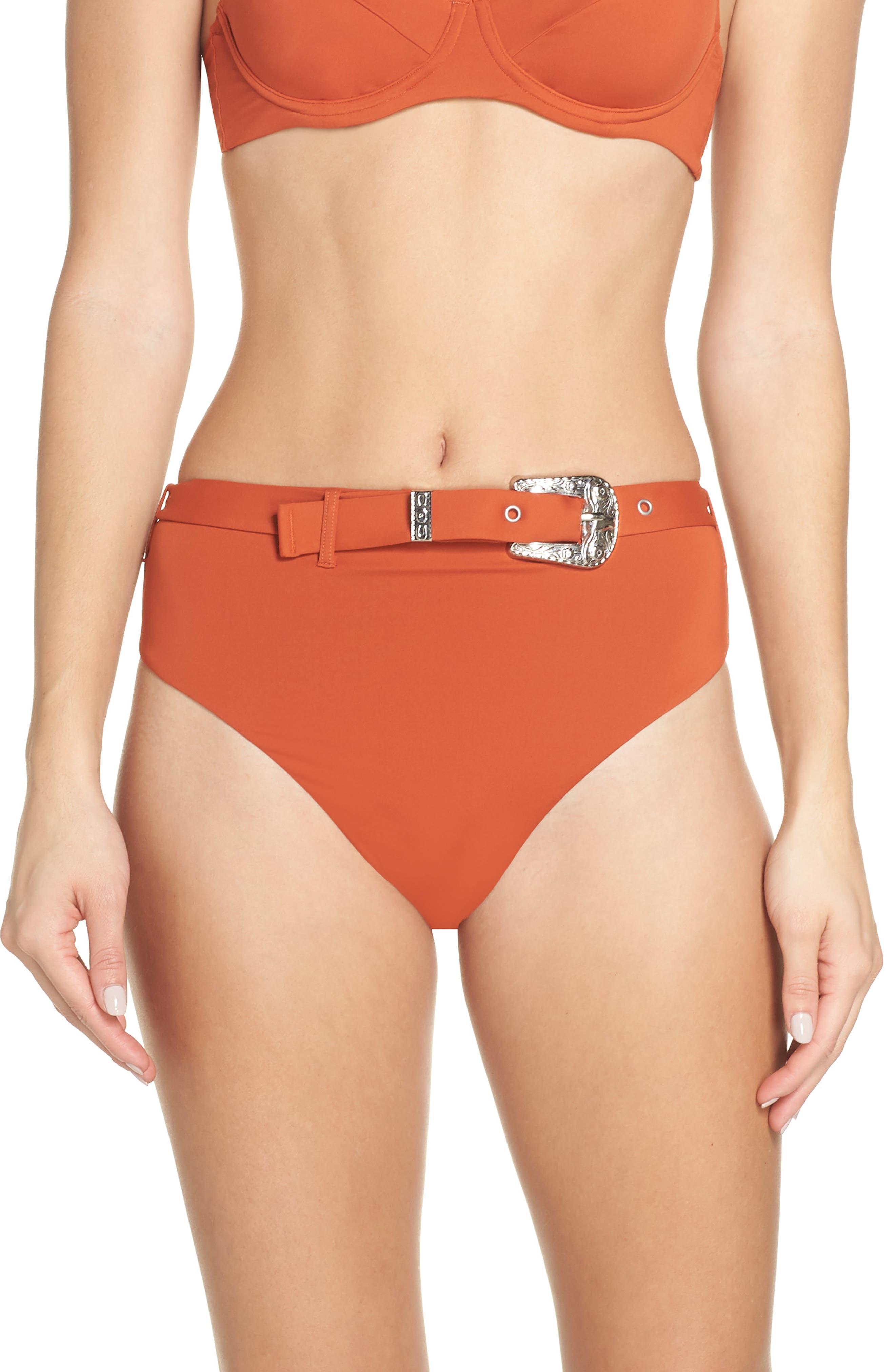 Onia Emily Bikini Bottoms, Red