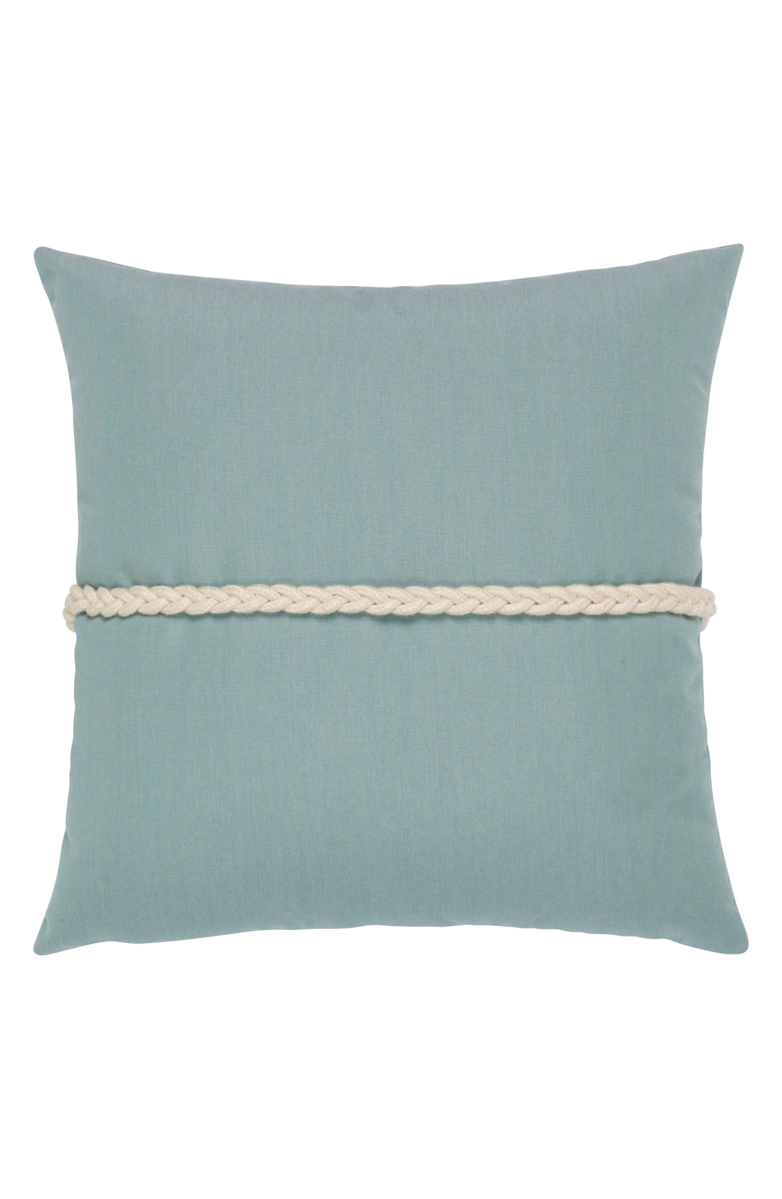 Frogs Clasp Indoor/Outdoor Accent Pillow,                             Alternate thumbnail 2, color,                             BLUE