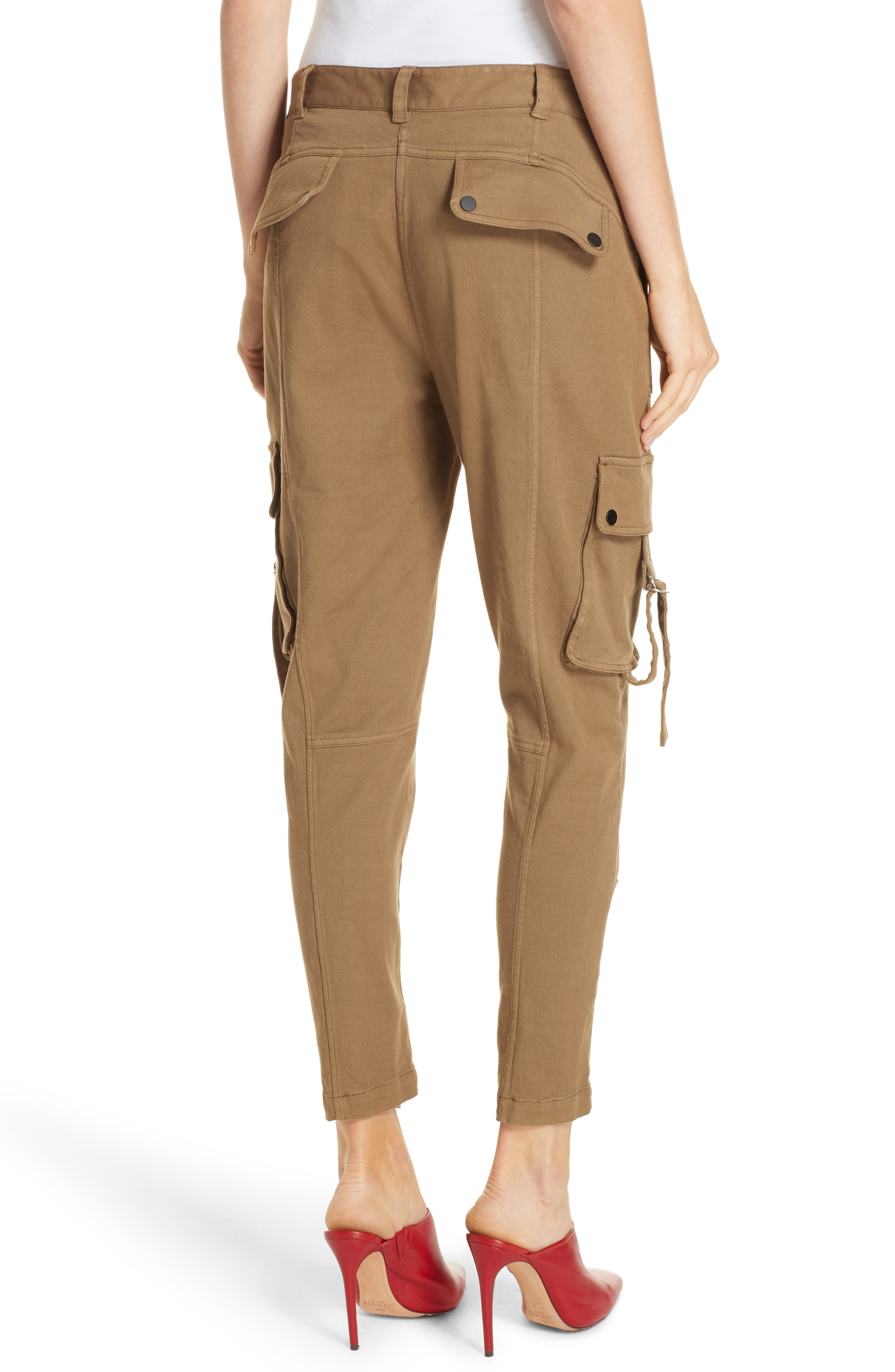 Skinny Cargo Pants,                             Alternate thumbnail 2, color,                             OLIVE