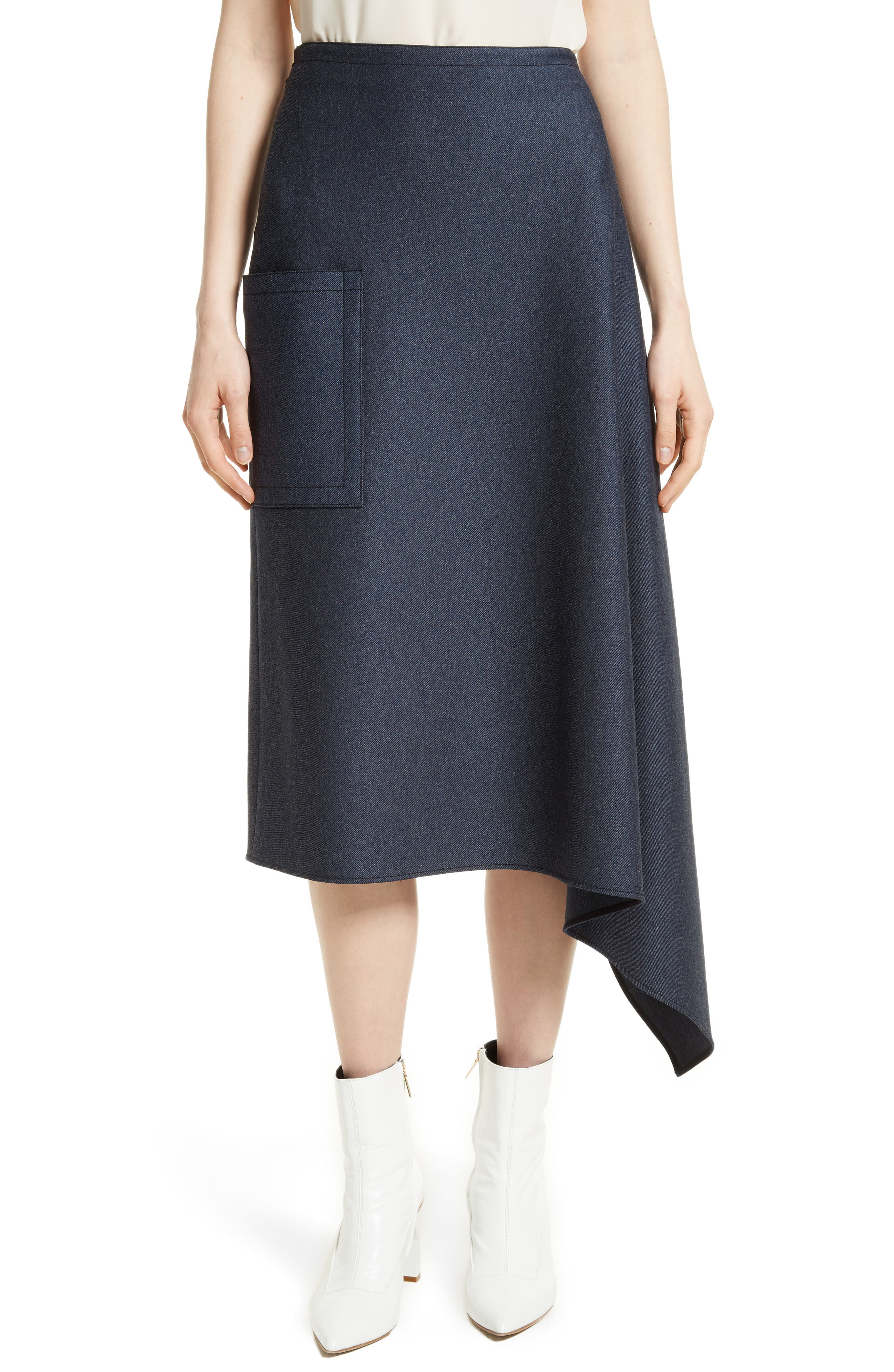 Origami Asymmetrical Twill Skirt,                         Main,                         color, 402