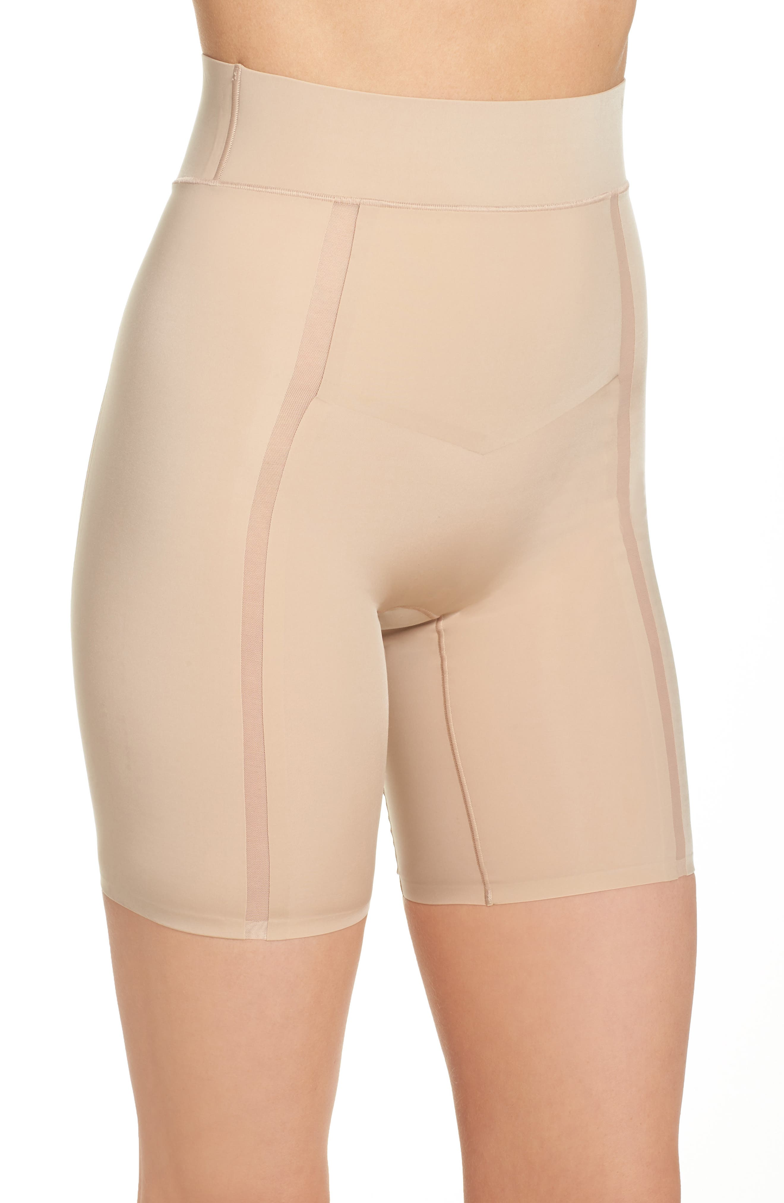 Sculpted Shapewear Thigh Shaper,                             Alternate thumbnail 3, color,                             250