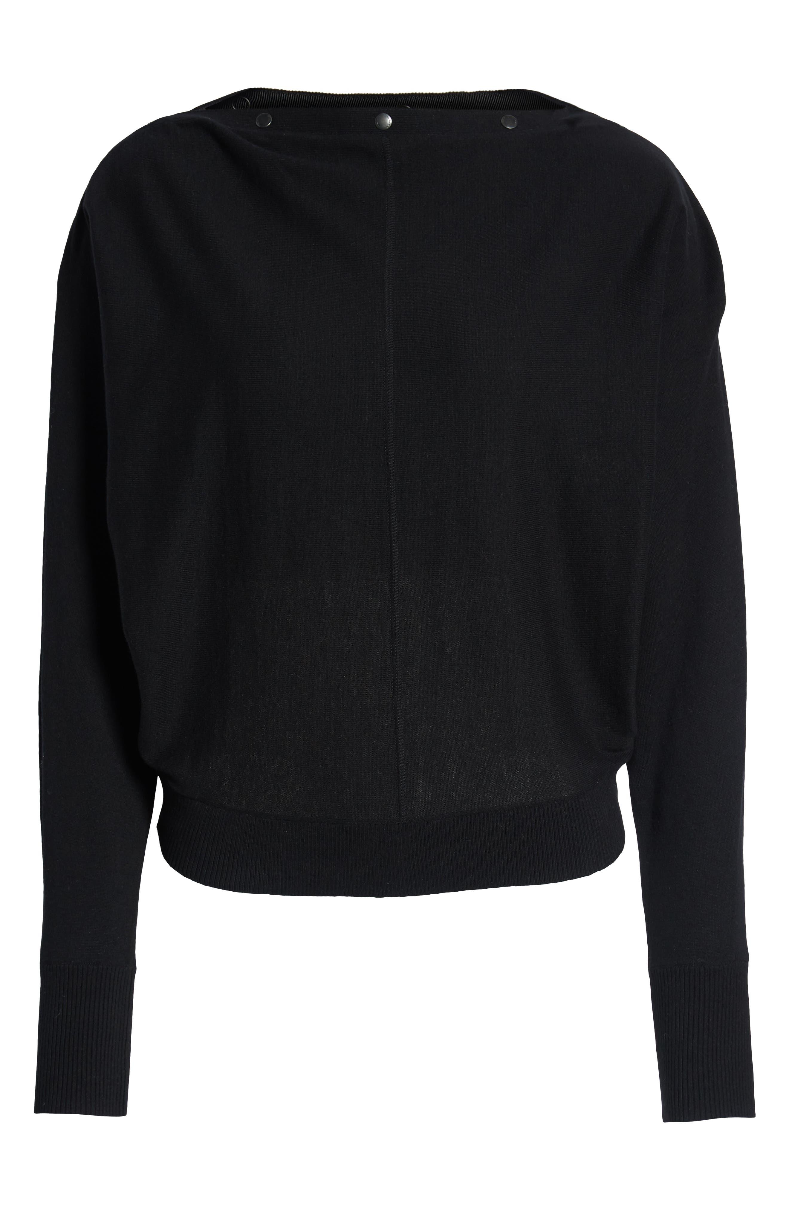 ALLSAINTS,                             Elle Sweater,                             Alternate thumbnail 4, color,                             BLACK