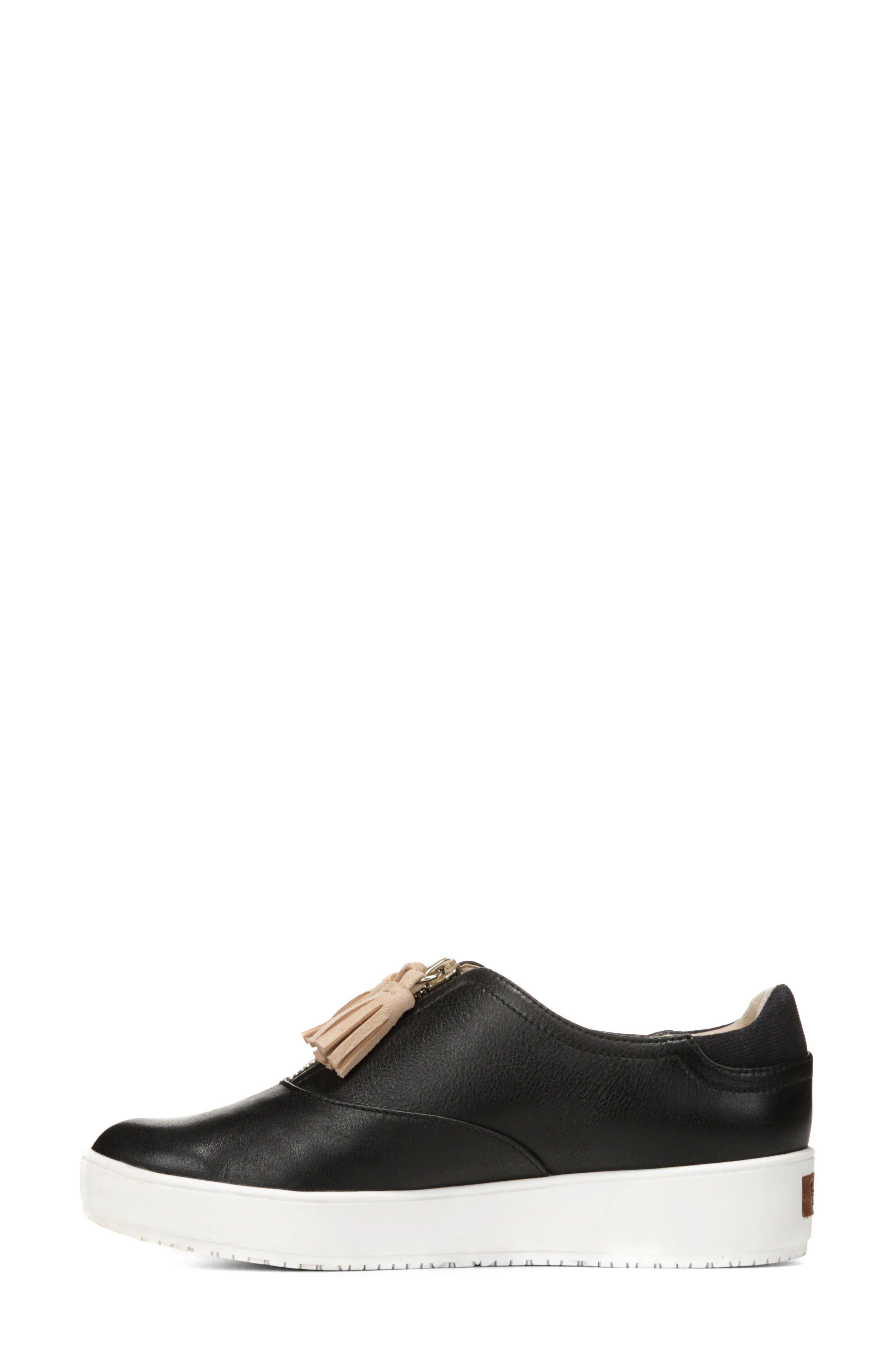 Blakely Tassel Zip Sneaker,                             Alternate thumbnail 9, color,                             001