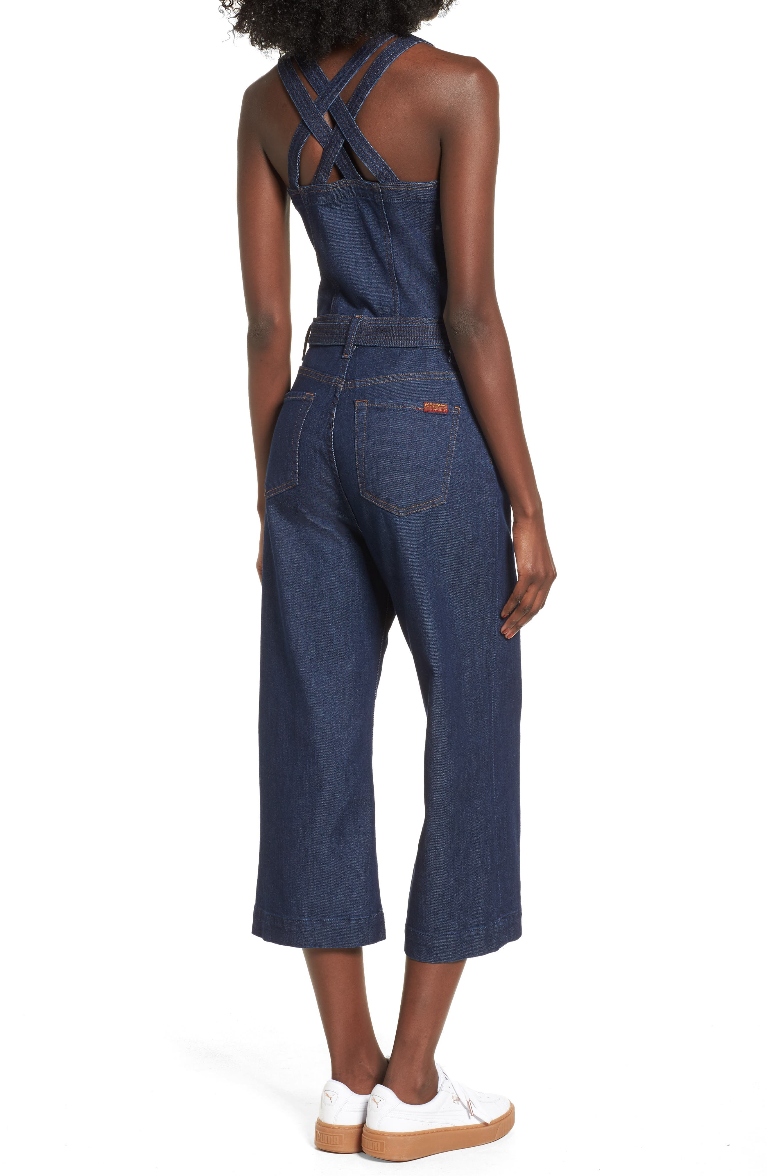 Denim Jumpsuit,                             Alternate thumbnail 2, color,                             400
