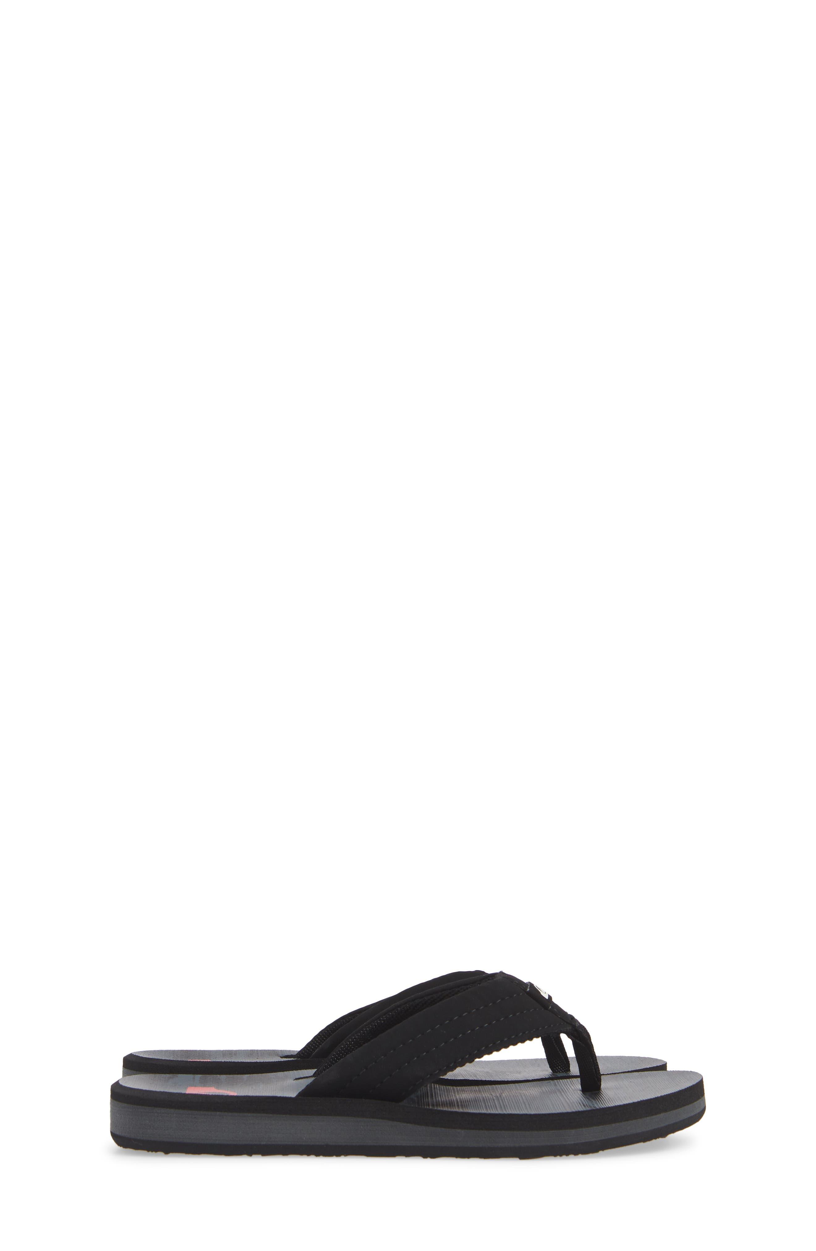 Carver Flip Flop,                             Alternate thumbnail 4, color,                             BLACK/ GREY/ GREY SYNTHETIC