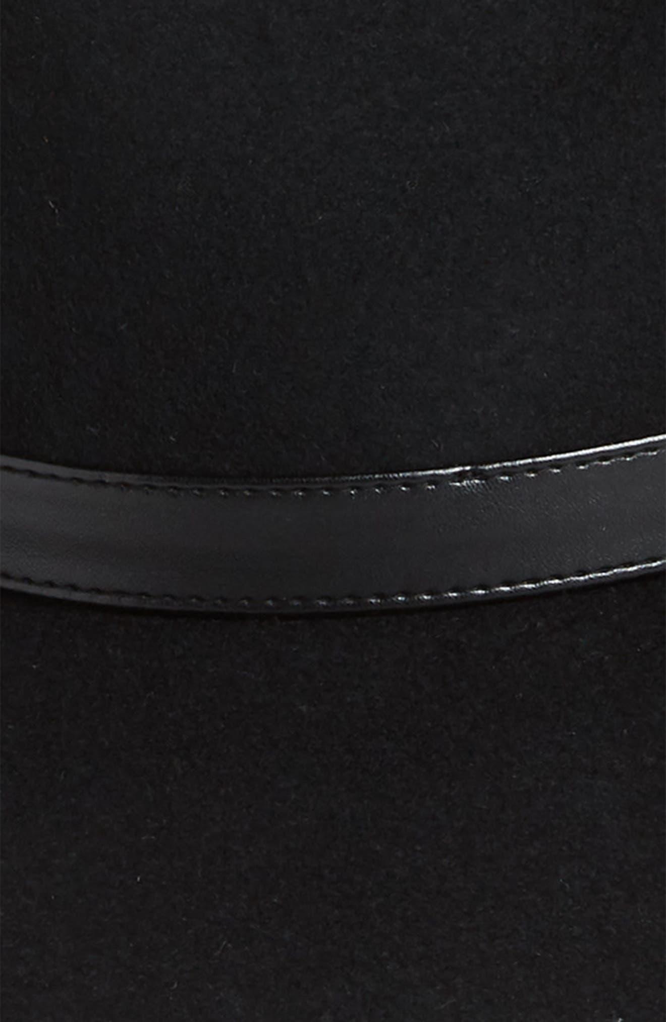 Wide Brim Wool Hat,                             Alternate thumbnail 2, color,                             001