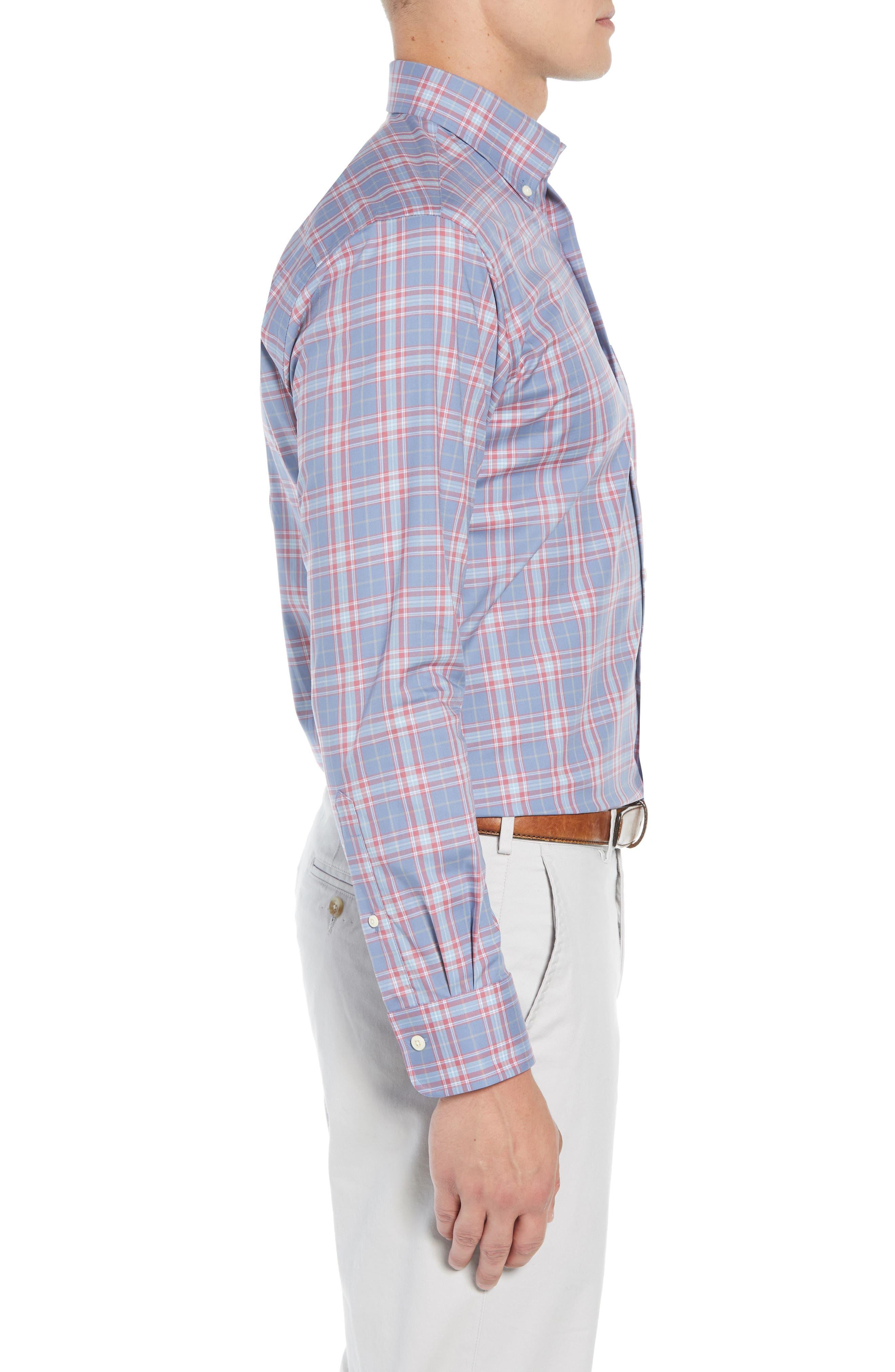 Crown Ease Archipelago Regular Fit Plaid Sport Shirt,                             Alternate thumbnail 4, color,                             524