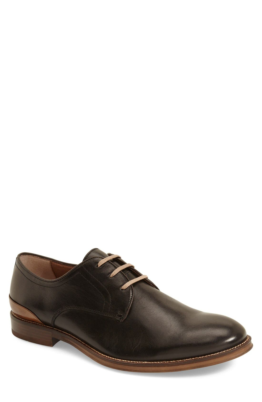 'Grayson' Plain Toe Derby,                             Main thumbnail 1, color,                             001
