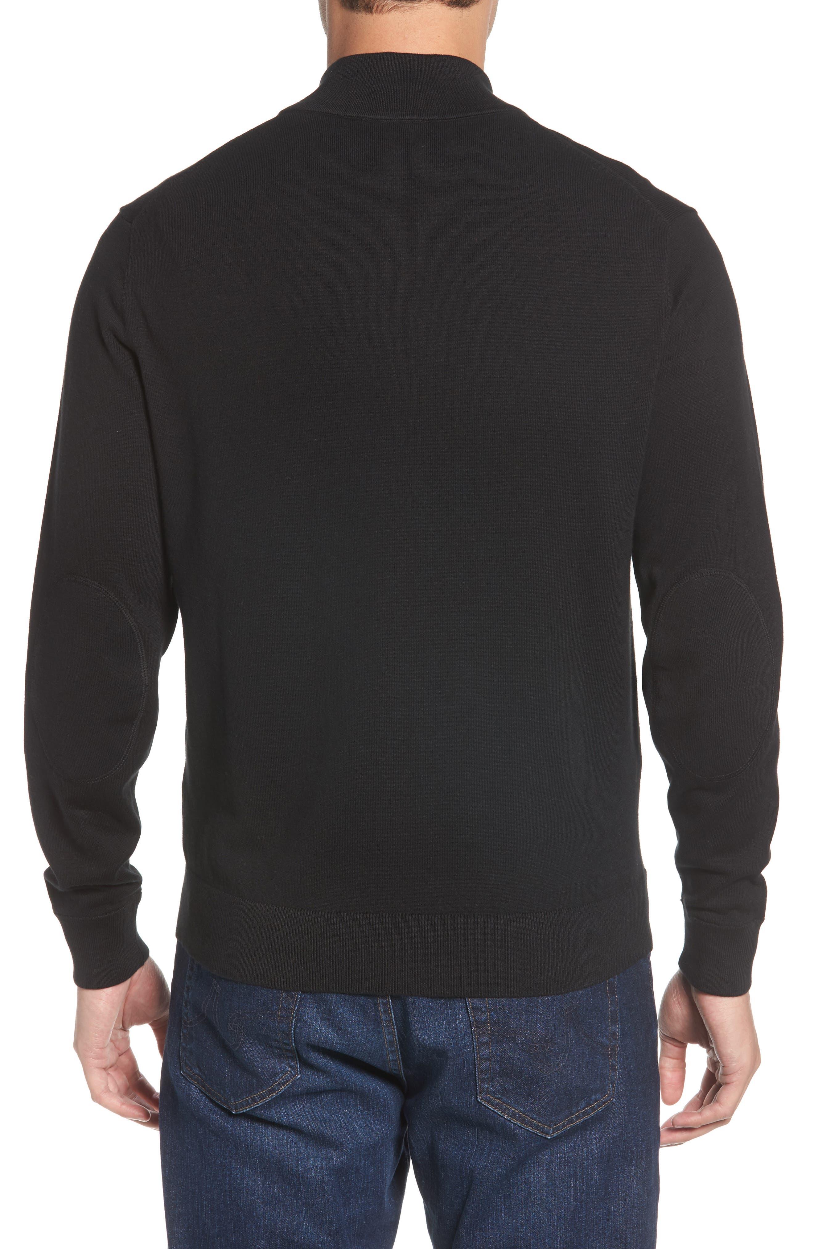 Chicago Bears - Lakemont Regular Fit Quarter Zip Sweater,                             Alternate thumbnail 2, color,                             BLACK