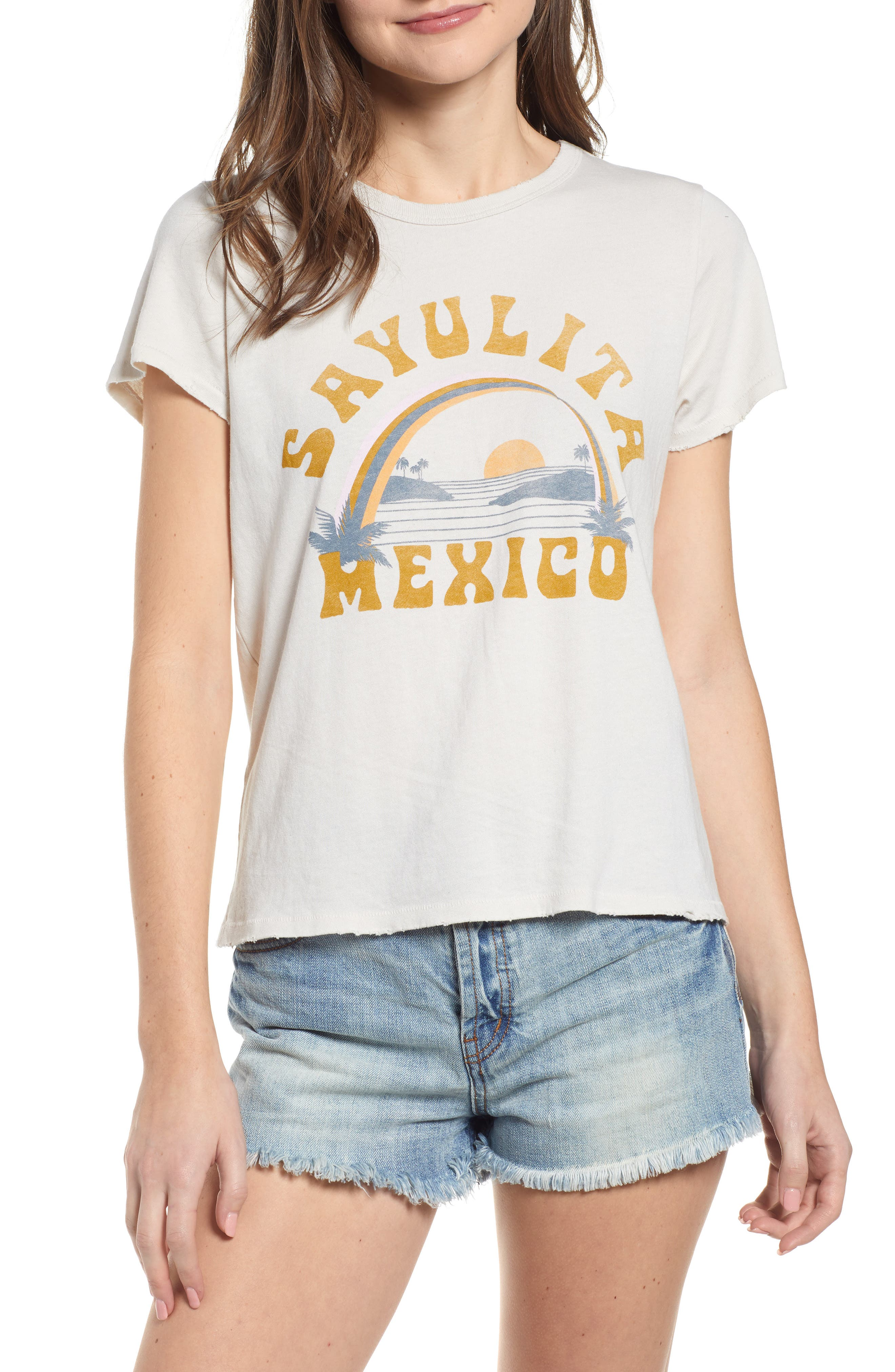 Sayulita Mexico Graphic Tee in Birch
