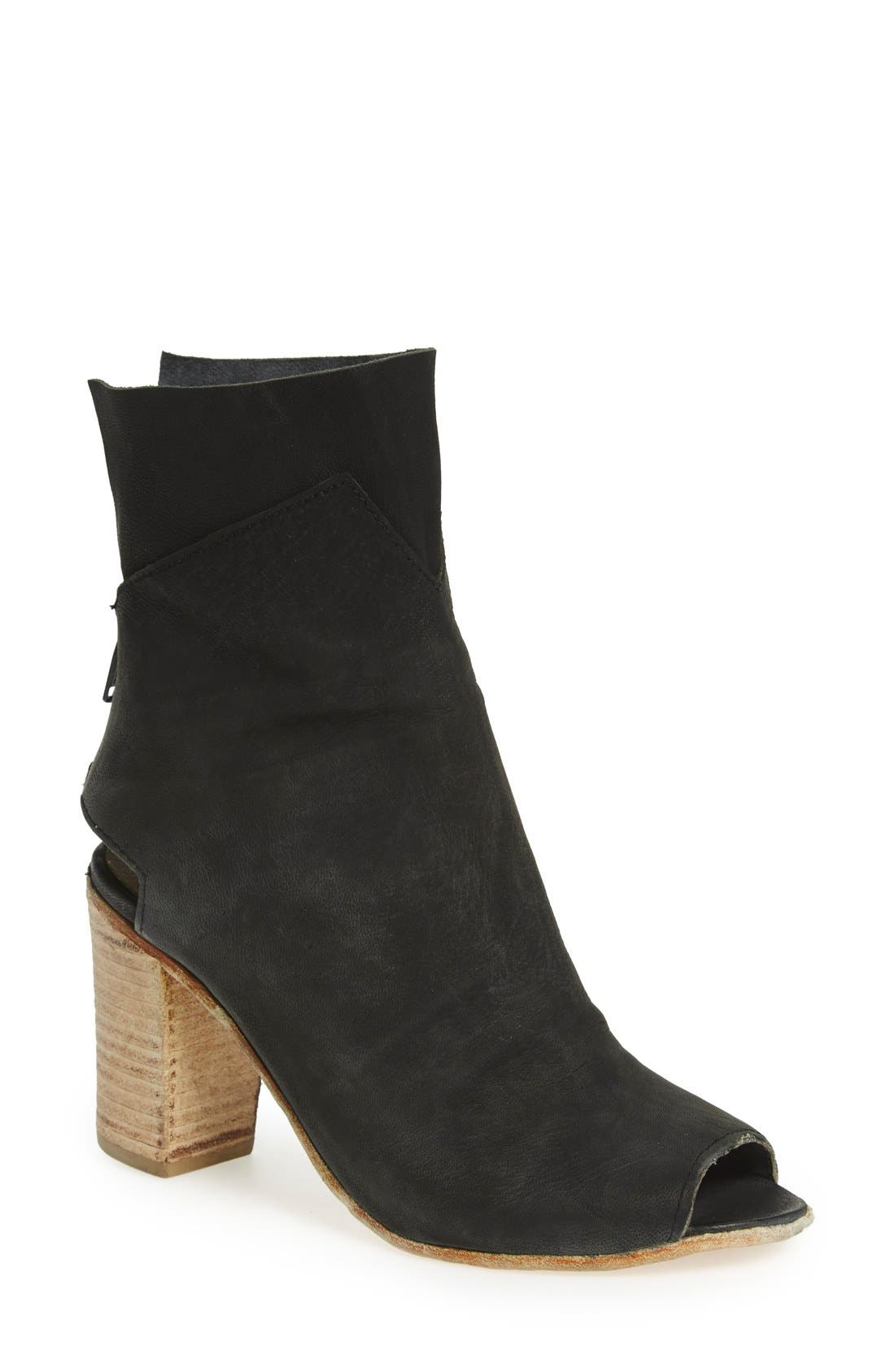 'Golden Road' Open Toe Bootie,                         Main,                         color, 001