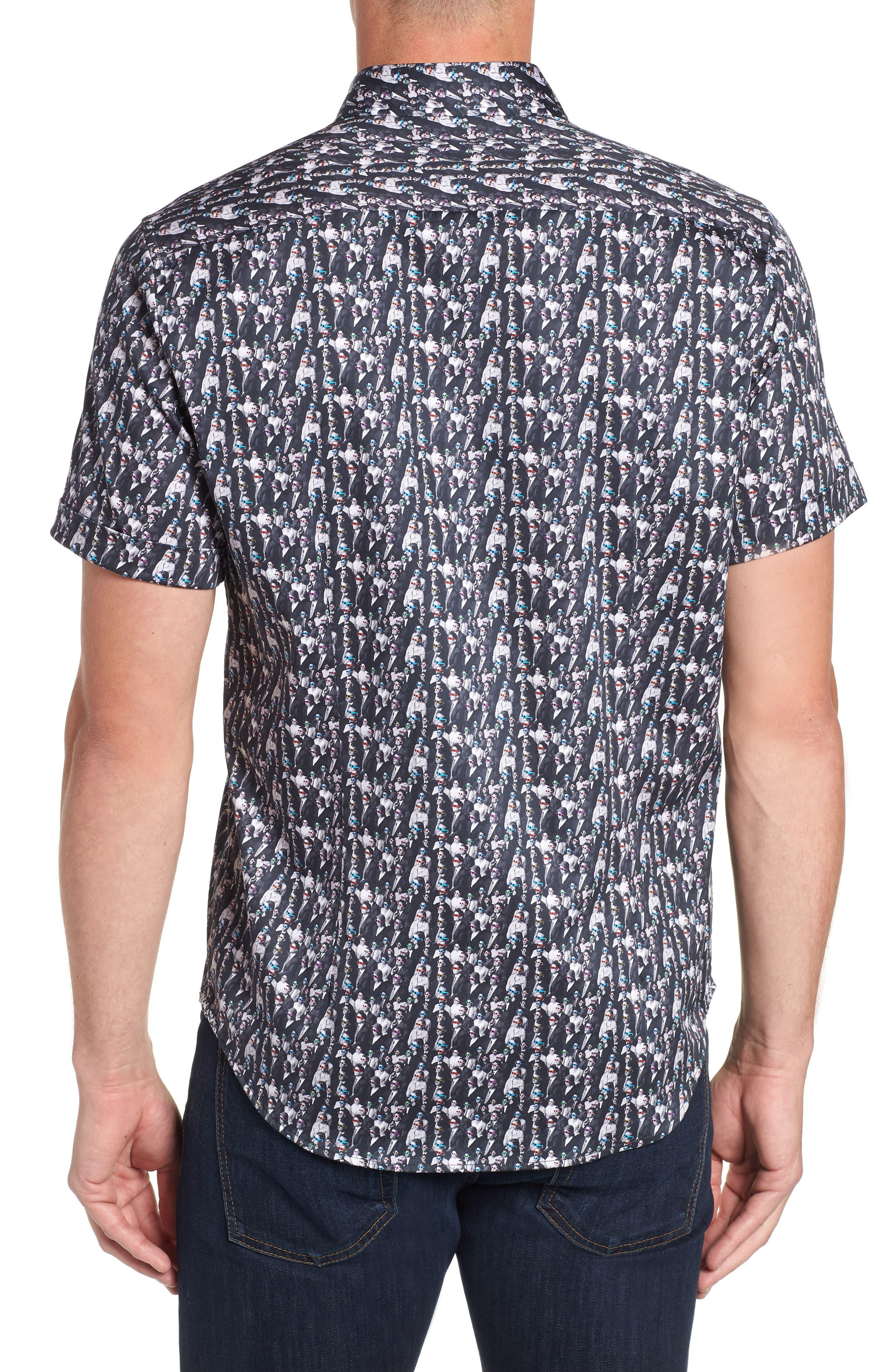 ROBERT GRAHAM,                             Cinema Tailored Fit Sport Shirt,                             Alternate thumbnail 3, color,                             001