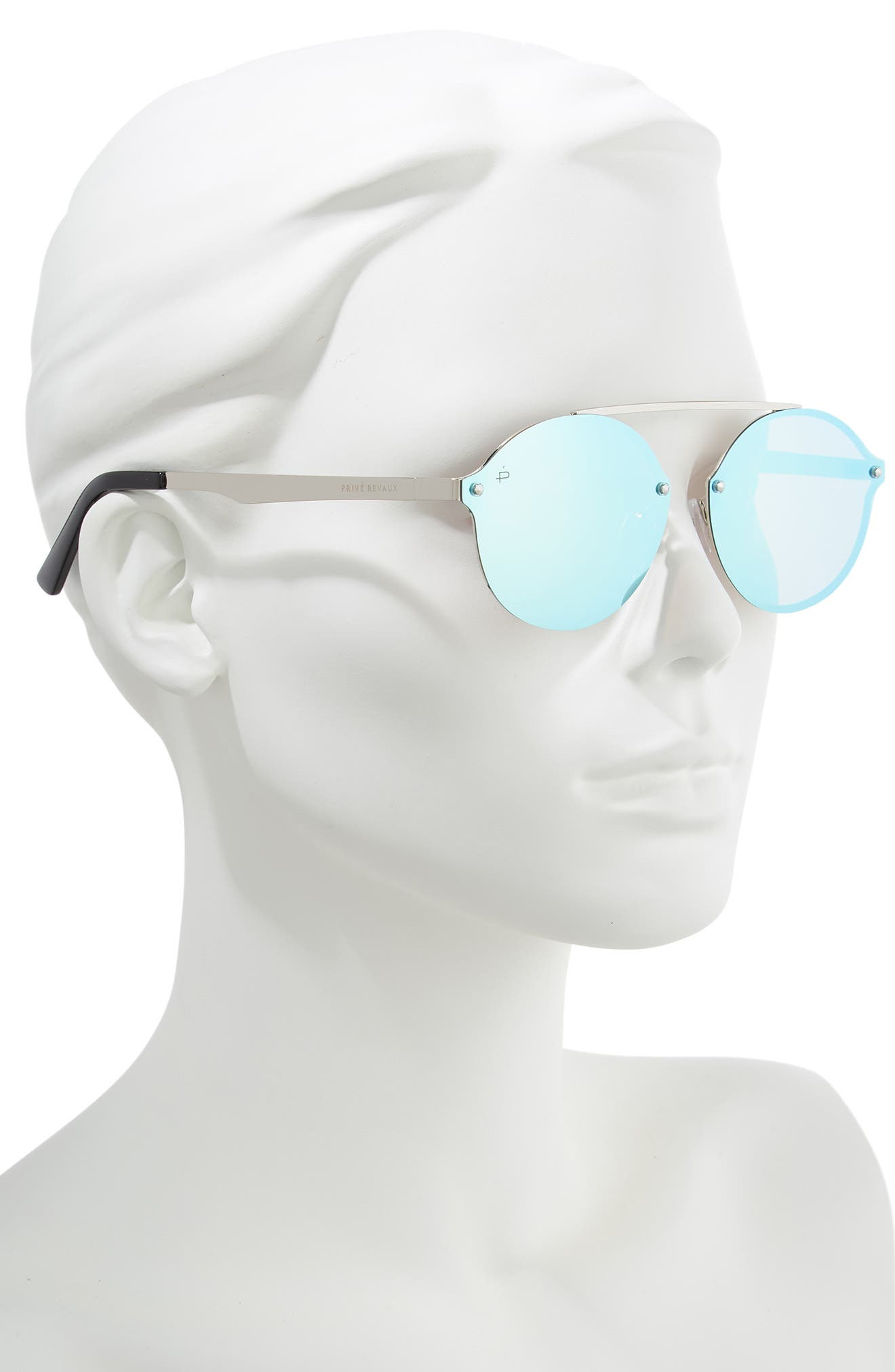 Privé Revaux The Orient 58mm Sunglasses,                             Alternate thumbnail 2, color,                             DARK BLUE MIRROR