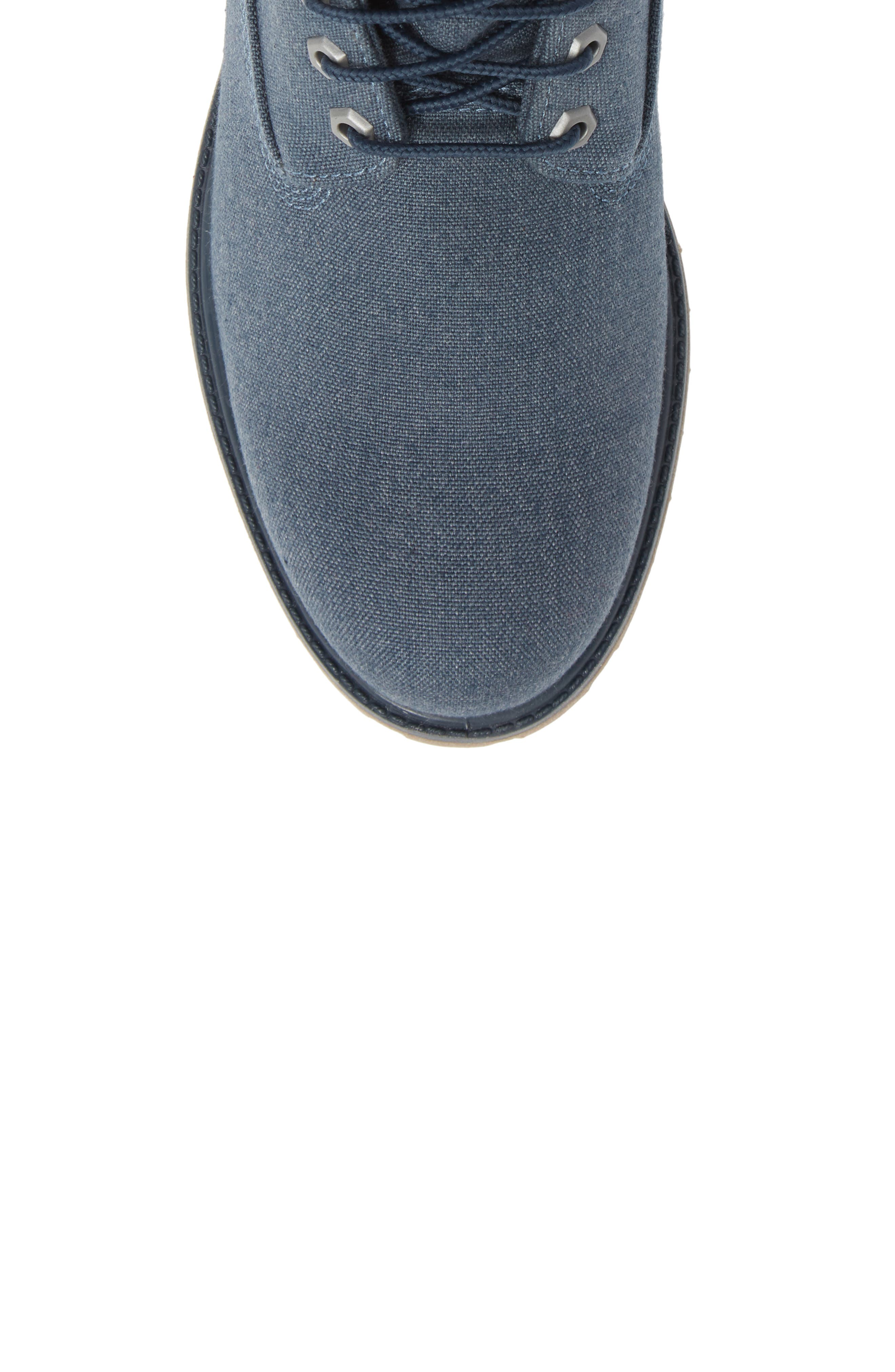 Premium Plain Toe Boot,                             Alternate thumbnail 5, color,                             MIDNIGHT NAVY THREAD