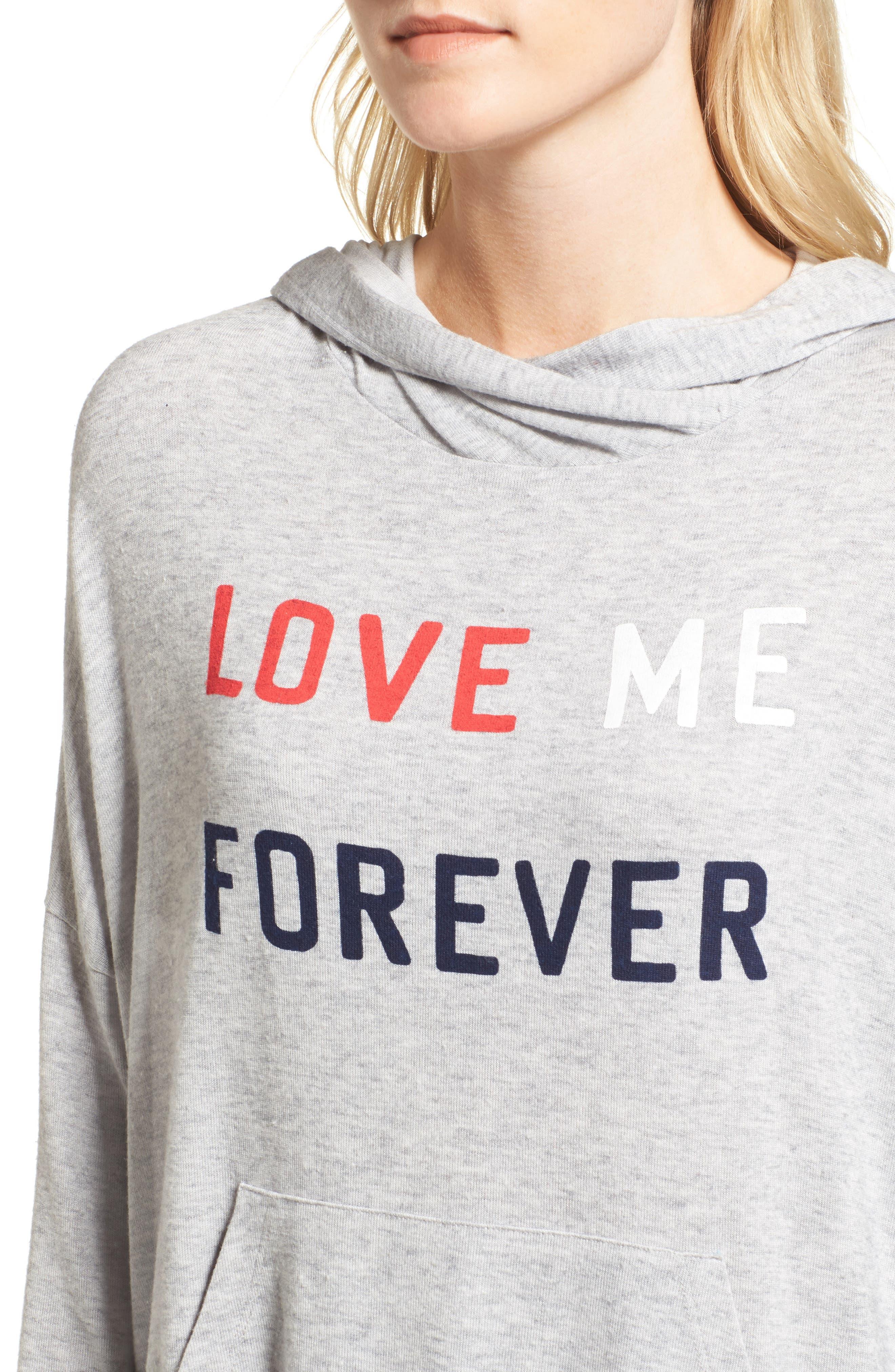 Love Me Forever Hoodie,                             Alternate thumbnail 4, color,                             039