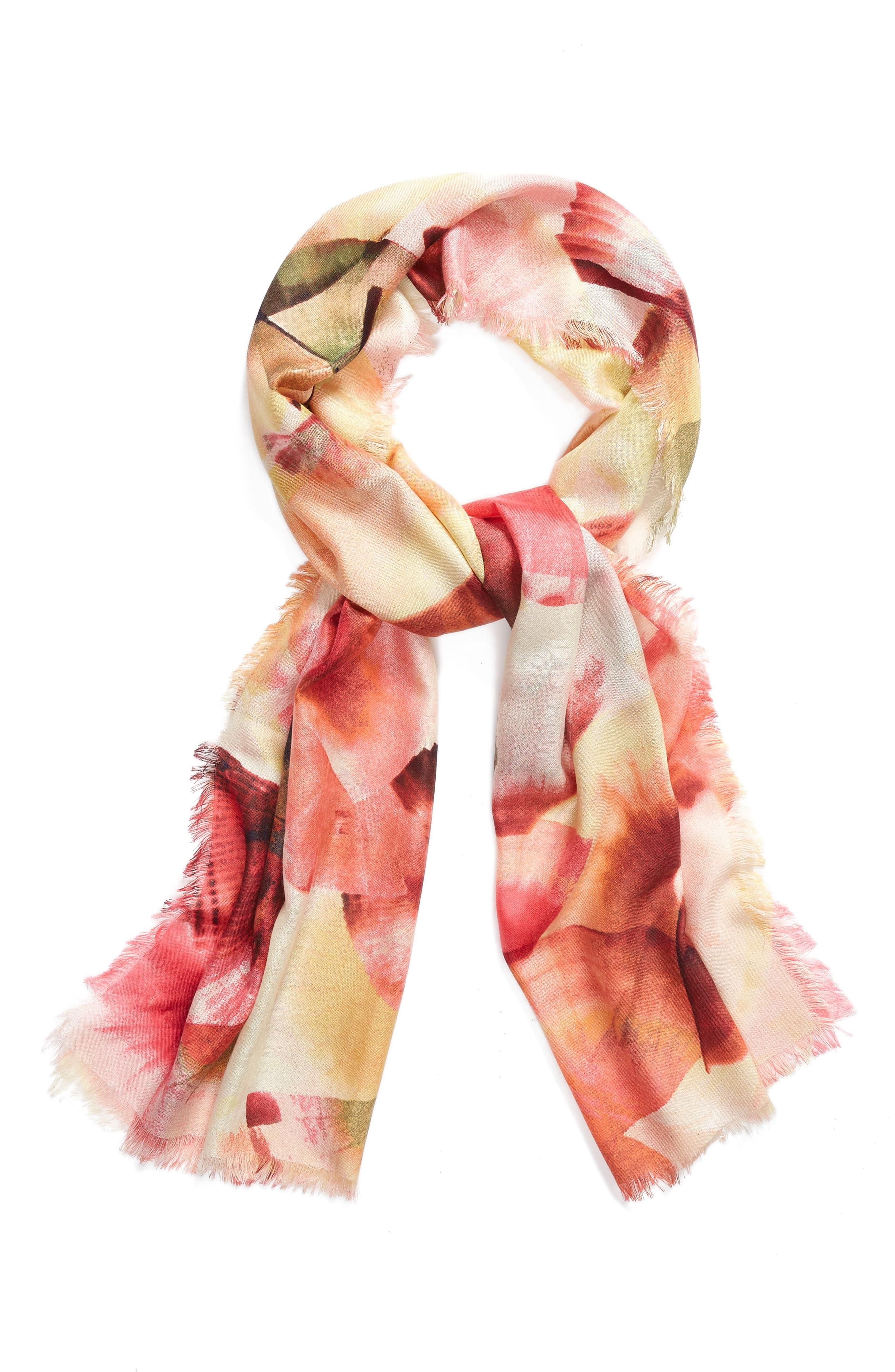 Eyelash Trim Print Cashmere & Silk Wrap,                             Alternate thumbnail 66, color,