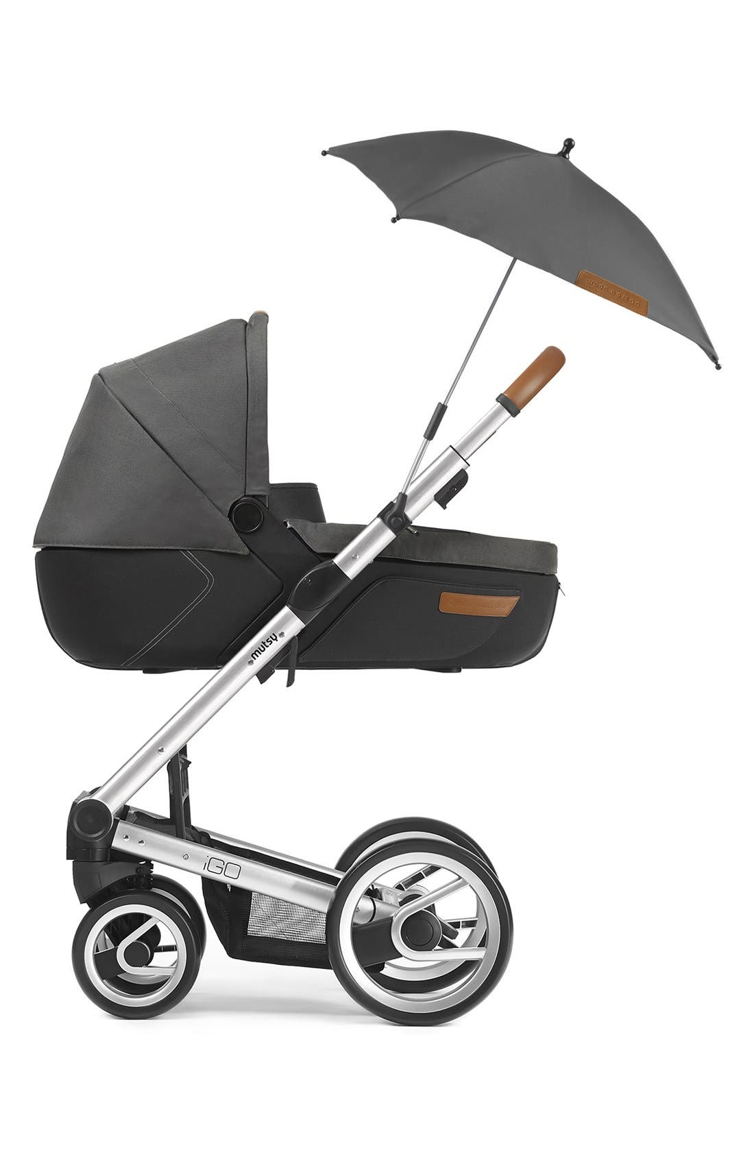 'Igo - Reflect Cosmo Black' Water Resistant Stroller Umbrella,                             Alternate thumbnail 2, color,                             001