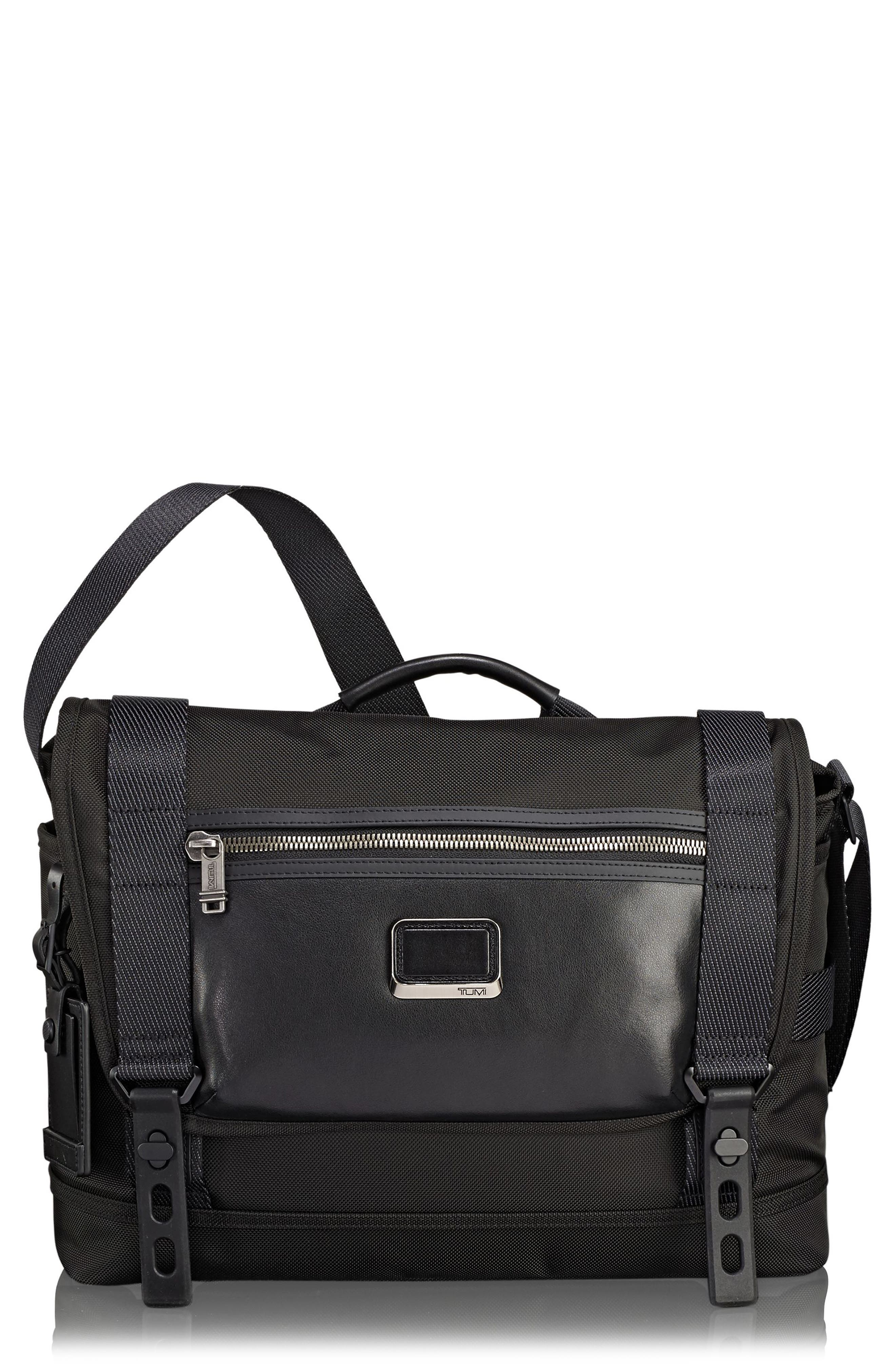 Alpha Bravo - Fallon Messenger Bag,                             Main thumbnail 1, color,                             BLACK