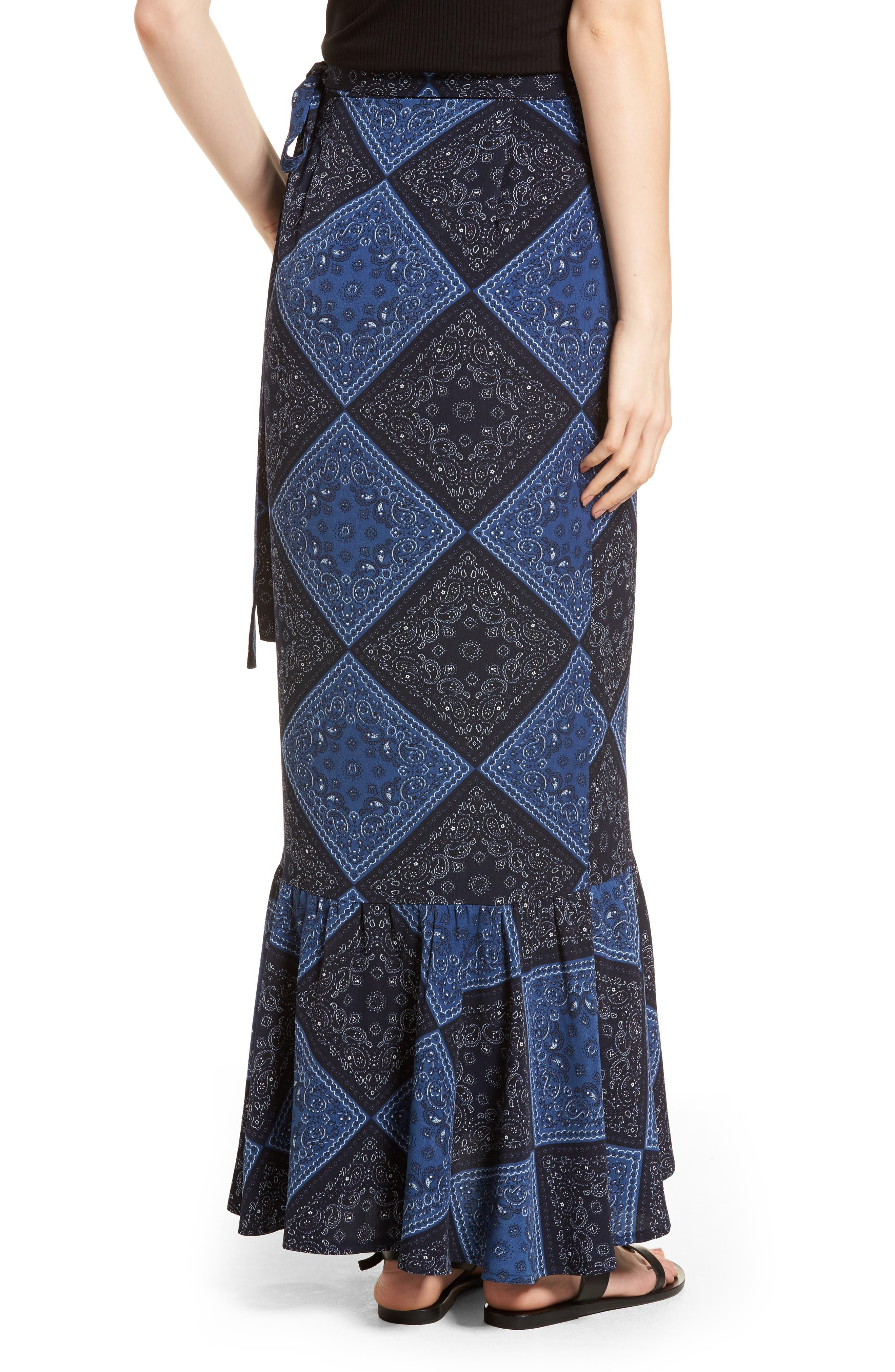 Elsa Bandana Print Skirt,                             Alternate thumbnail 2, color,                             405