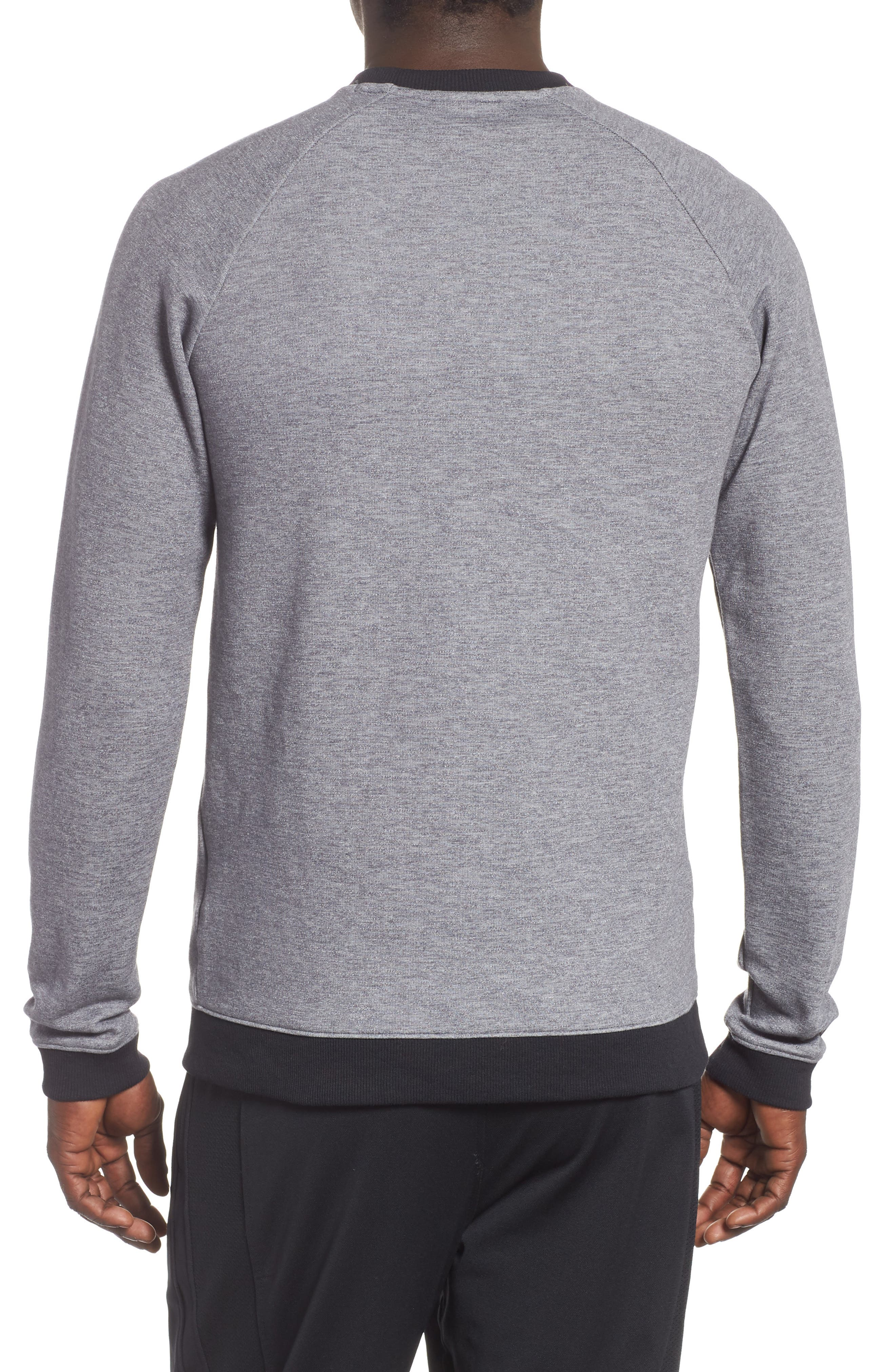 UNDER ARMOUR,                             Sportstyle 2x Crew Sweatshirt,                             Alternate thumbnail 2, color,                             STEEL
