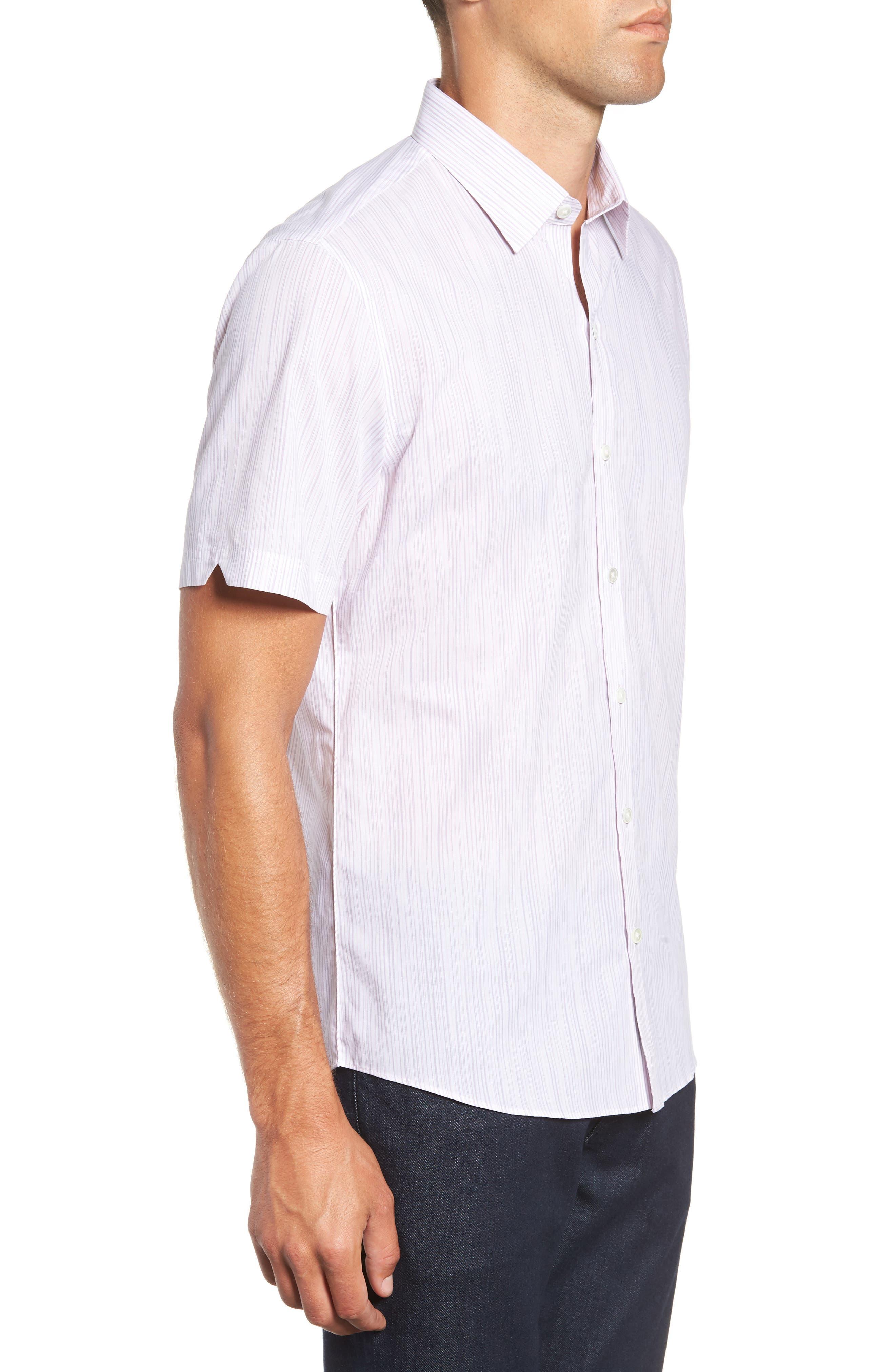 Bella Regular Fit Sport Shirt,                             Alternate thumbnail 4, color,                             LIGHT PINK