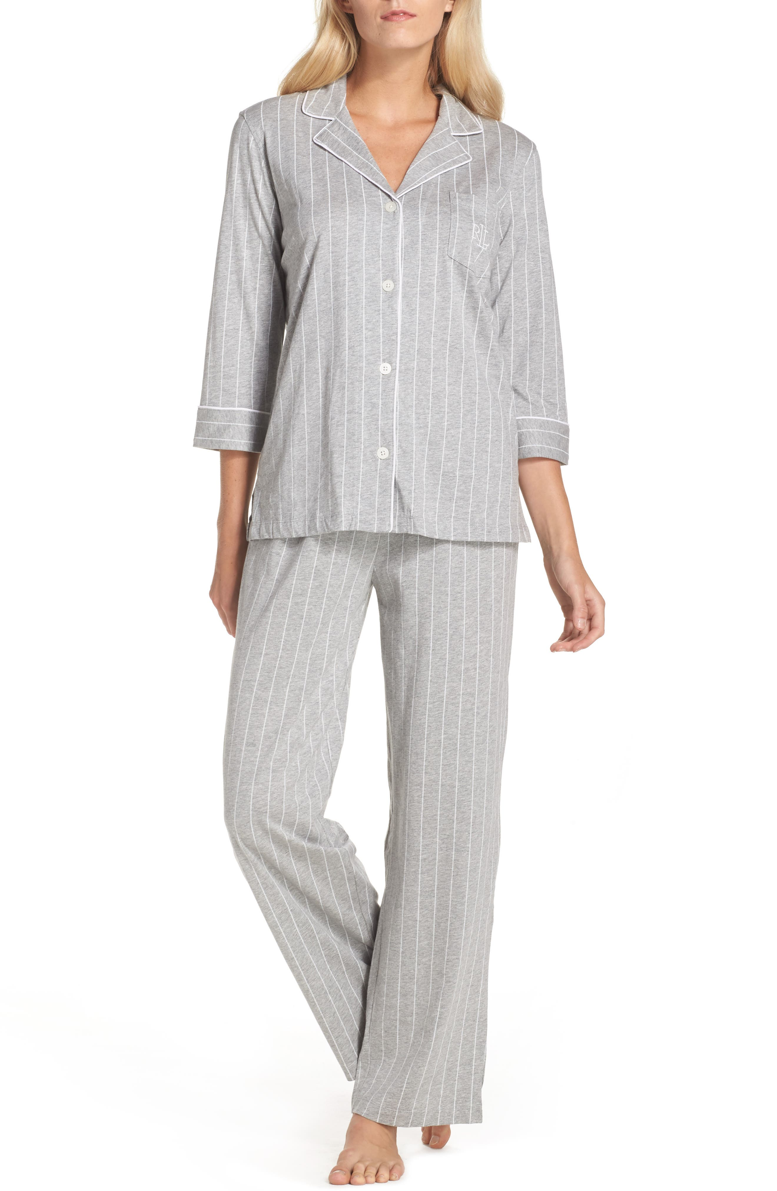 Notch Collar Pajamas,                             Main thumbnail 1, color,                             025