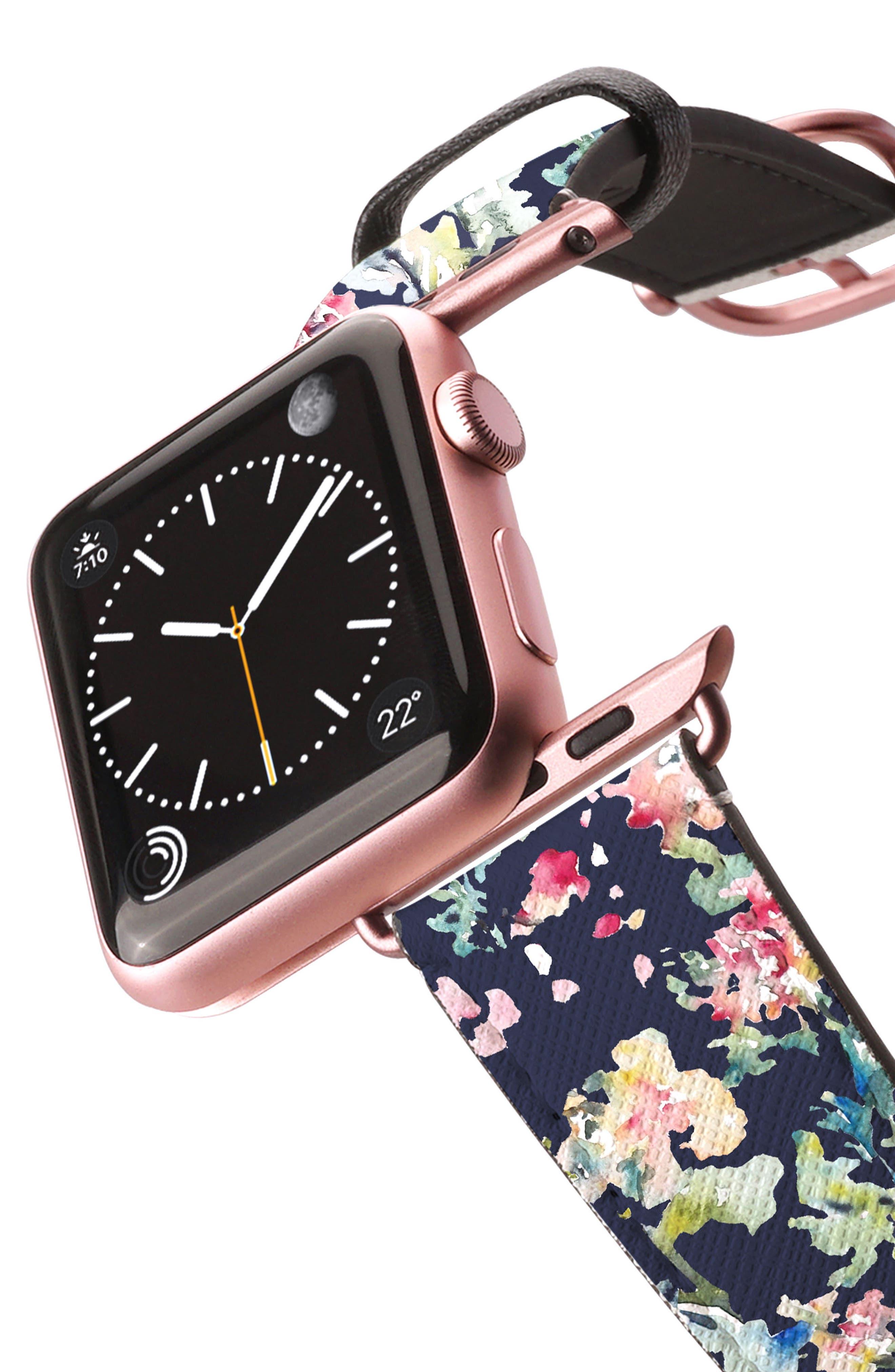 Saffiano Faux Leather Apple Watch Strap,                             Alternate thumbnail 19, color,