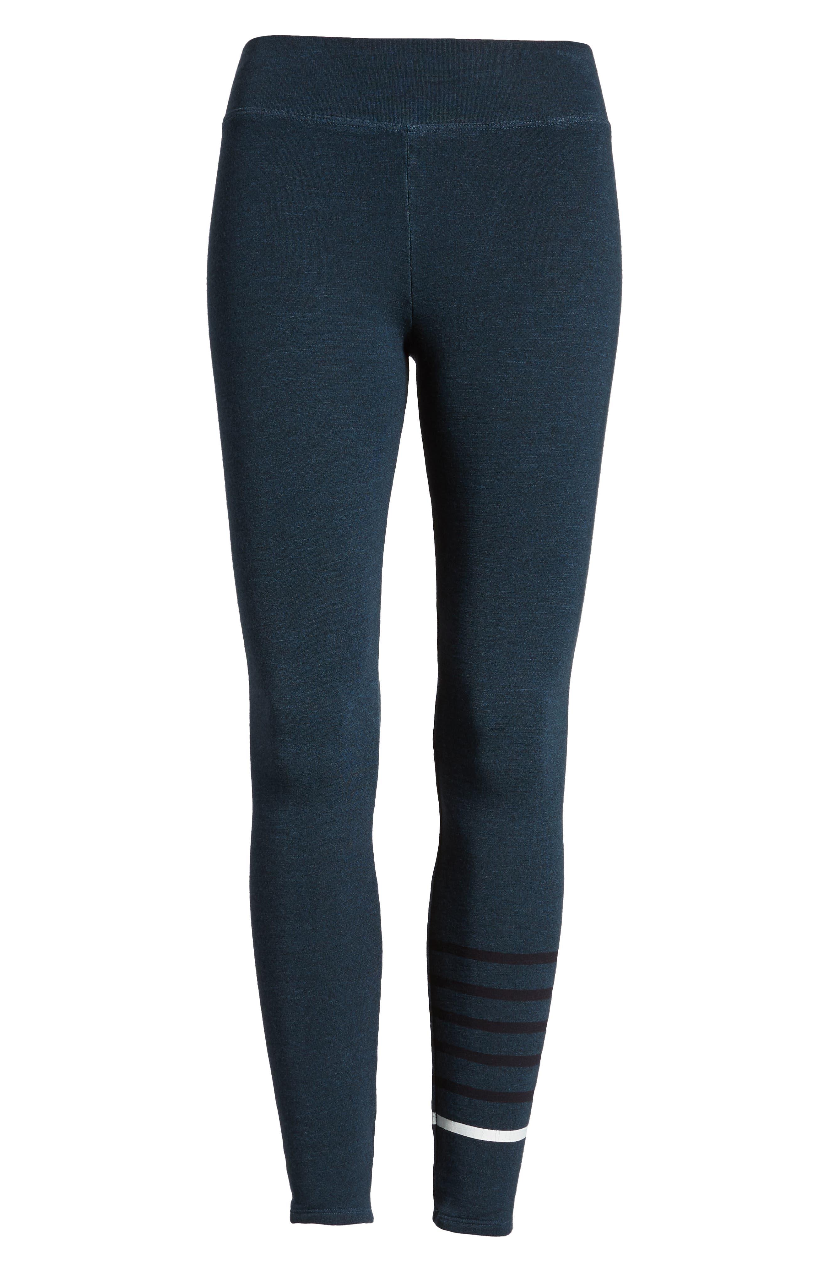Stripe Yoga Pants,                             Alternate thumbnail 7, color,                             STORM