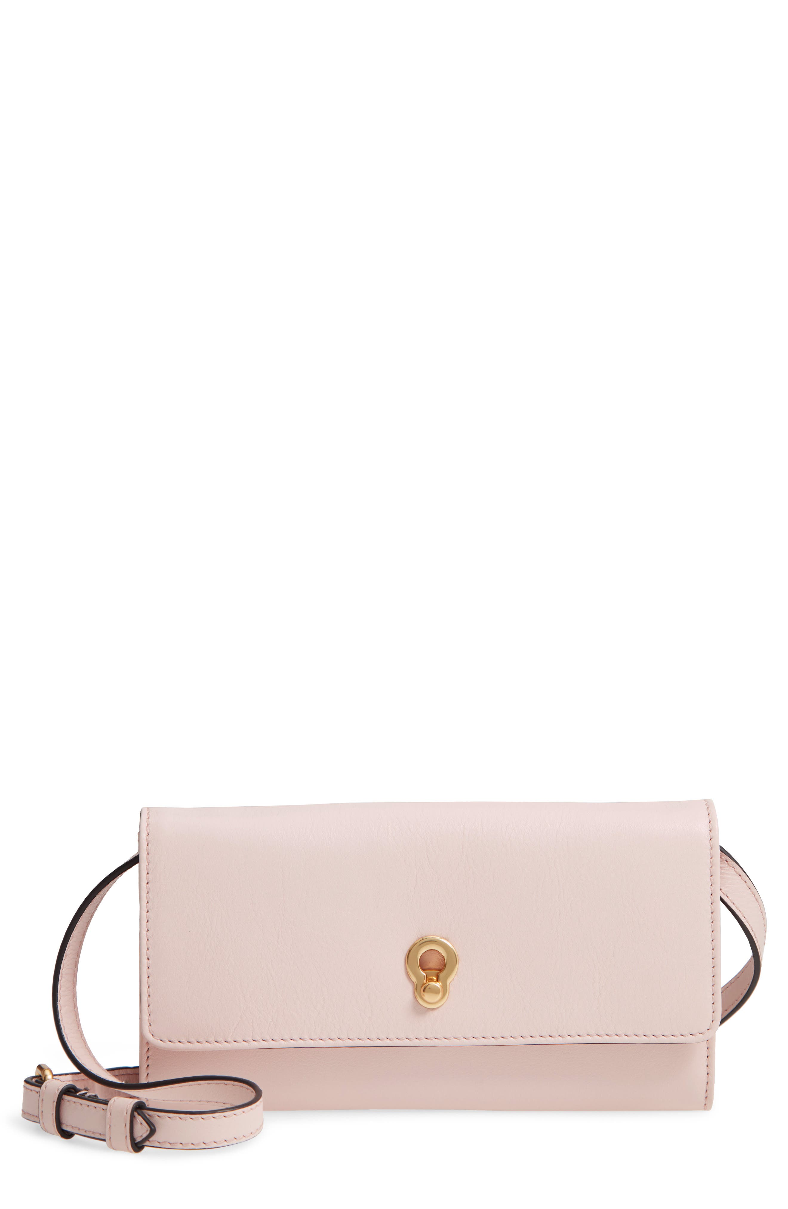 Zoe Leather Smartphone Crossbody Bag,                         Main,                         color, 650