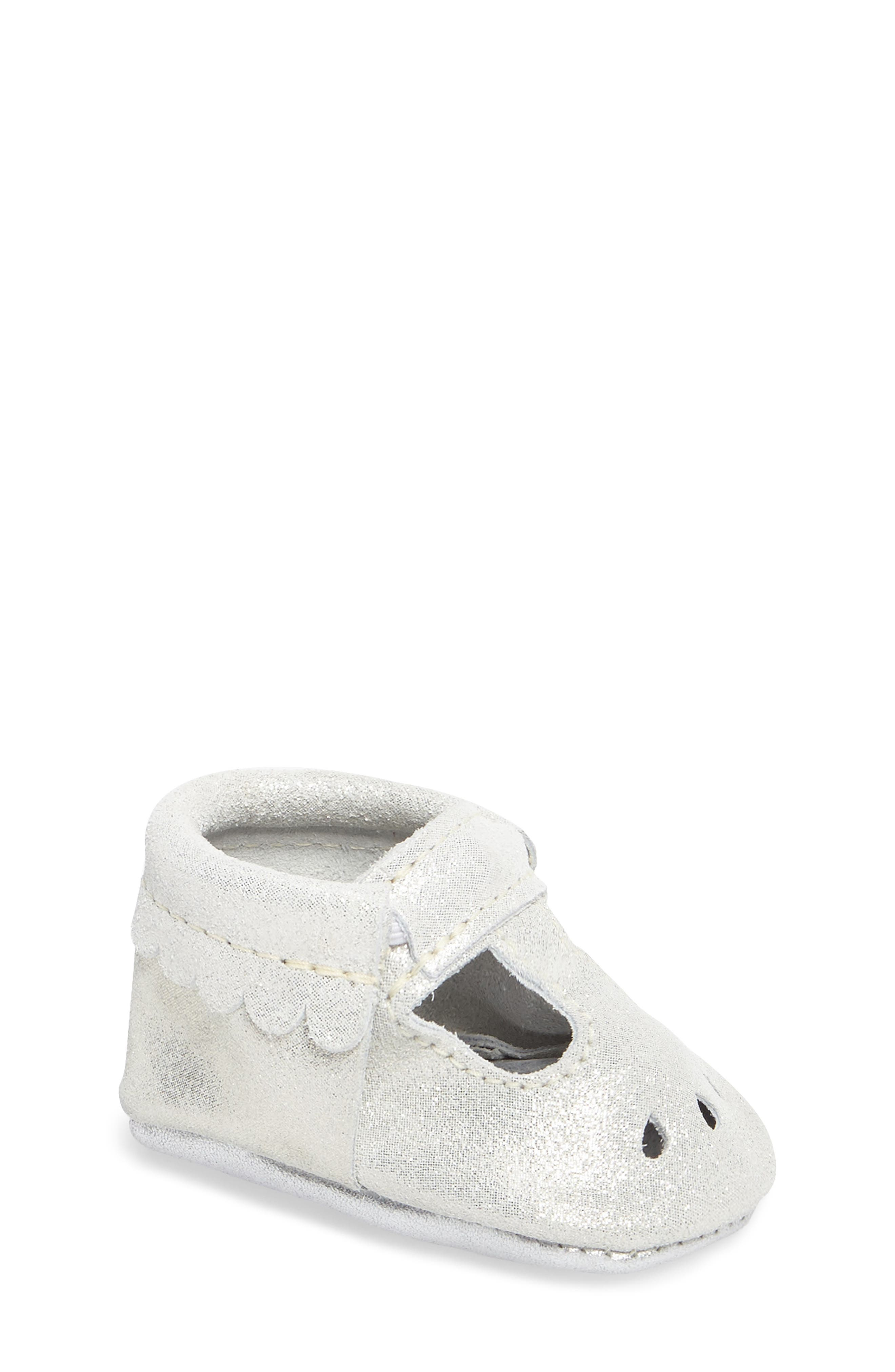 Perforated Mary Jane Moccasin,                         Main,                         color, GLASS SLIPPER LEATHER