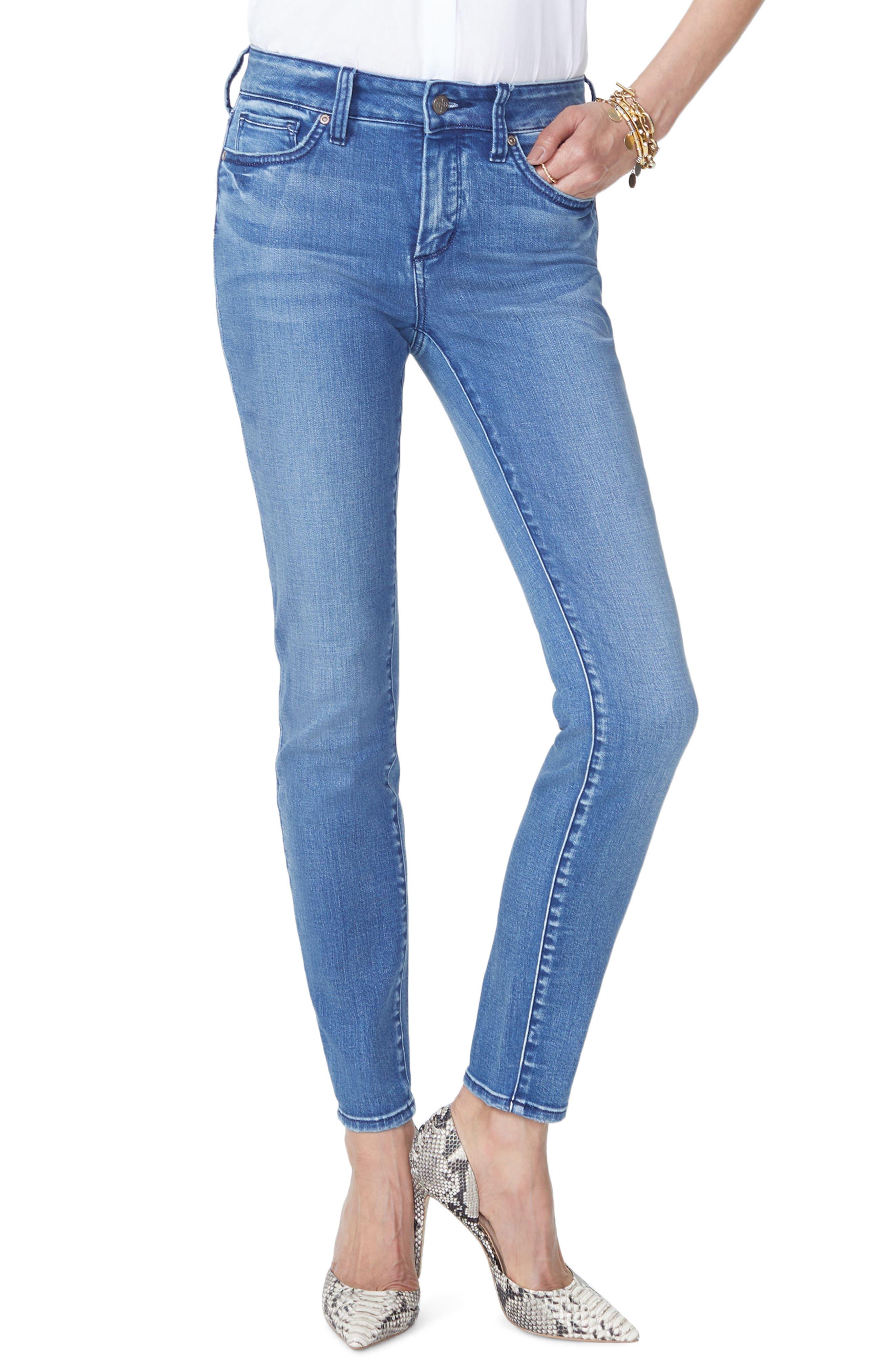 Ami High Waist Stretch Skinny Jeans,                             Main thumbnail 1, color,                             WISHFUL