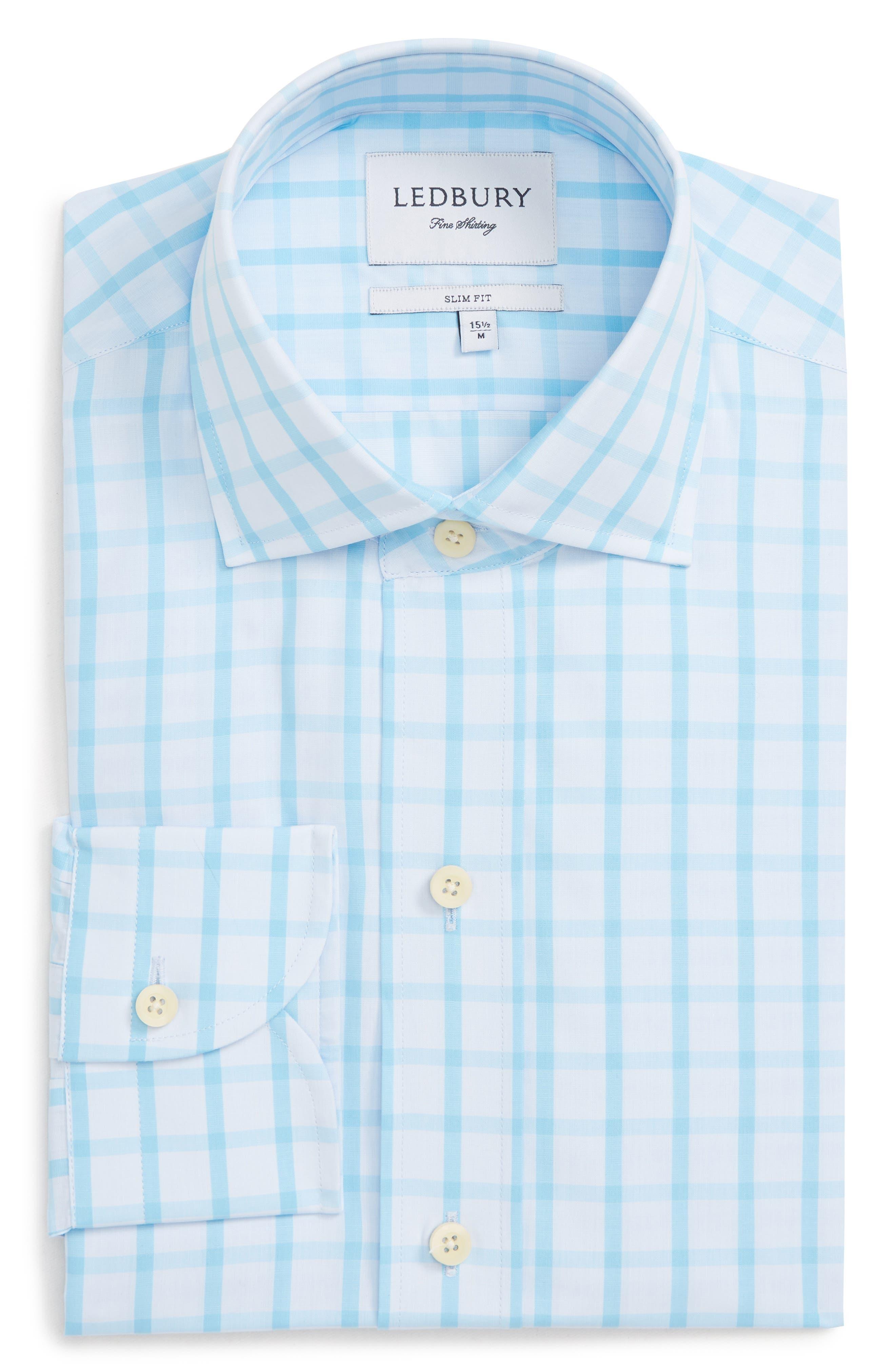 Hayden Trim Fit Windowpane Dress Shirt,                             Main thumbnail 2, color,