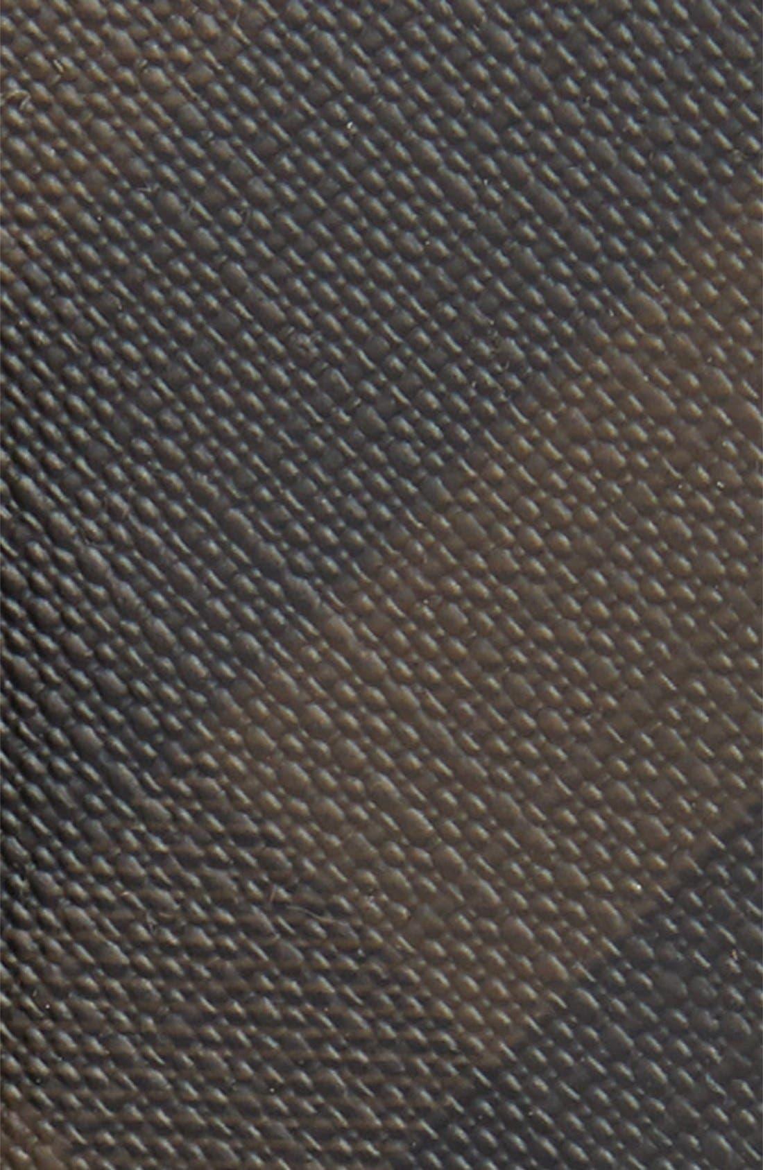 'Joe' Check Pattern Belt,                             Alternate thumbnail 2, color,                             CHOCOLATE/ BLACK